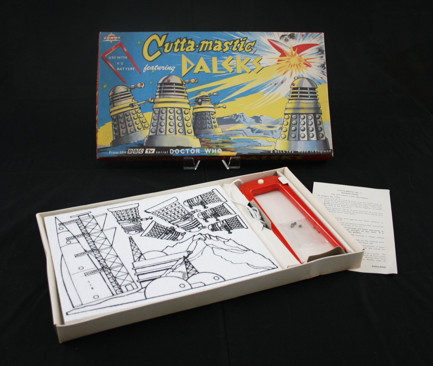 Bell Toys Ltd. small Cutta-Mastic featuring the Daleks