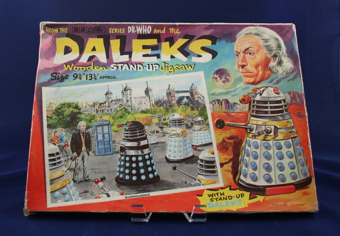 """Thomas Hope and Sankey Hudson Ltd., Dr. Who and the Daleks Wooden Stand-Up Jigsaw, """"Surrounded"""""""