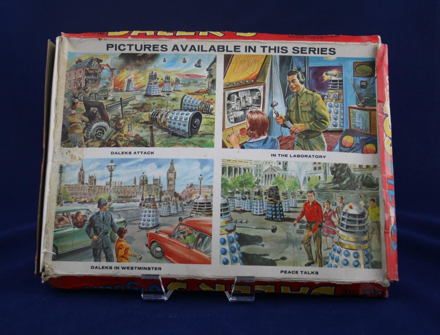 Thomas Hope and Sankey Hudson Ltd., back of the Dr. Who and the Daleks Jigsaw box