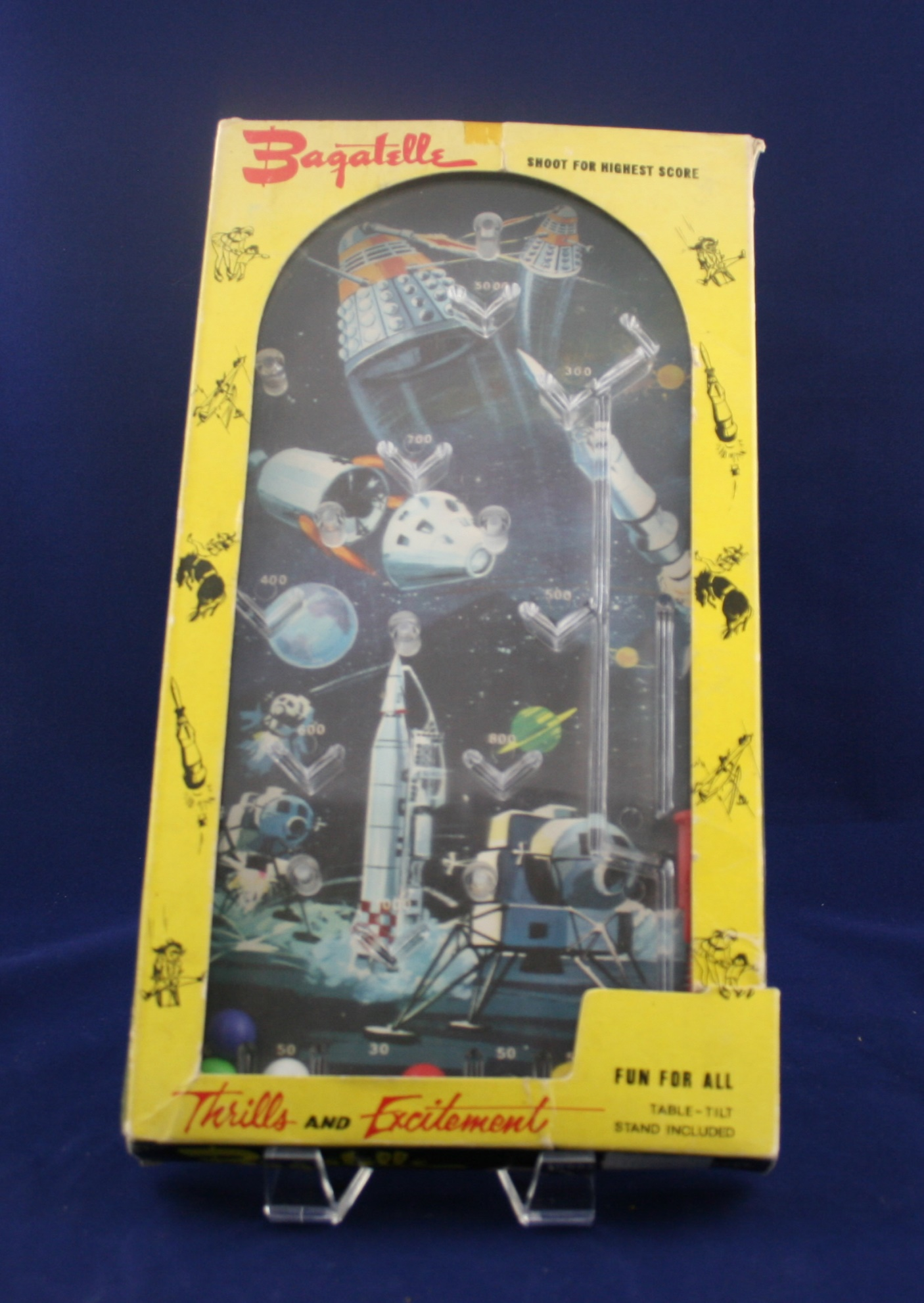 Grace Toys Ltd., large horizontal Dalek Bagatelle (probably not licensed by the BBC)