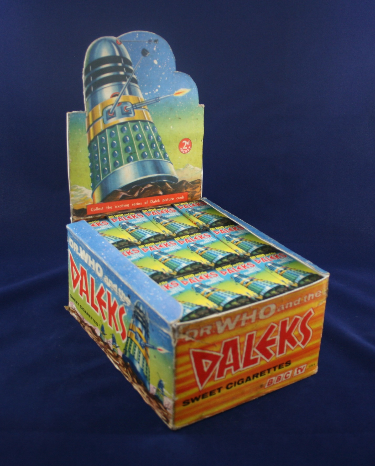 Cadet Sweets, Dr. Who and the Daleks Sweet Cigarettes, complete point-of-sale display box
