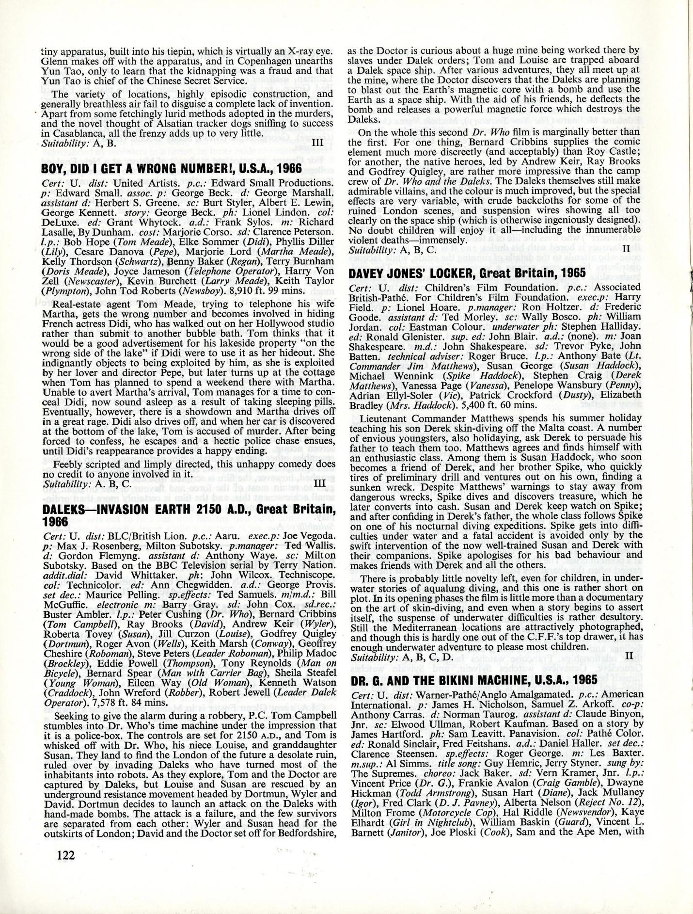 BFI Monthly Film Bulletin, August 1966