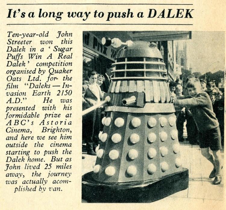 ABC Magazine (unknown date), Sugar Puffs Win a Dalek competition article