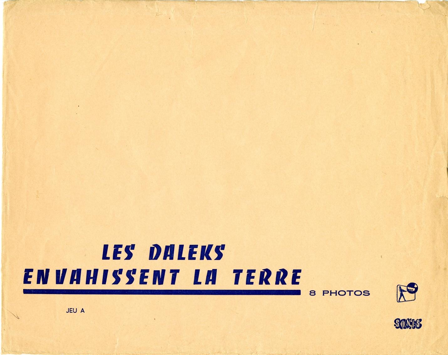 Envelope for set of French campaign stills