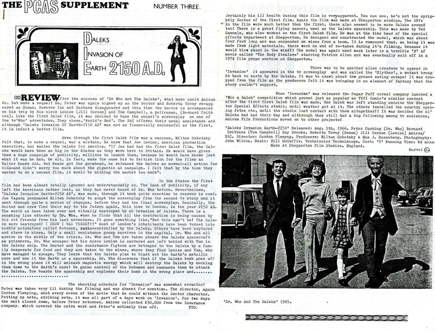 Peter Cushing Appreciation Society Supplement