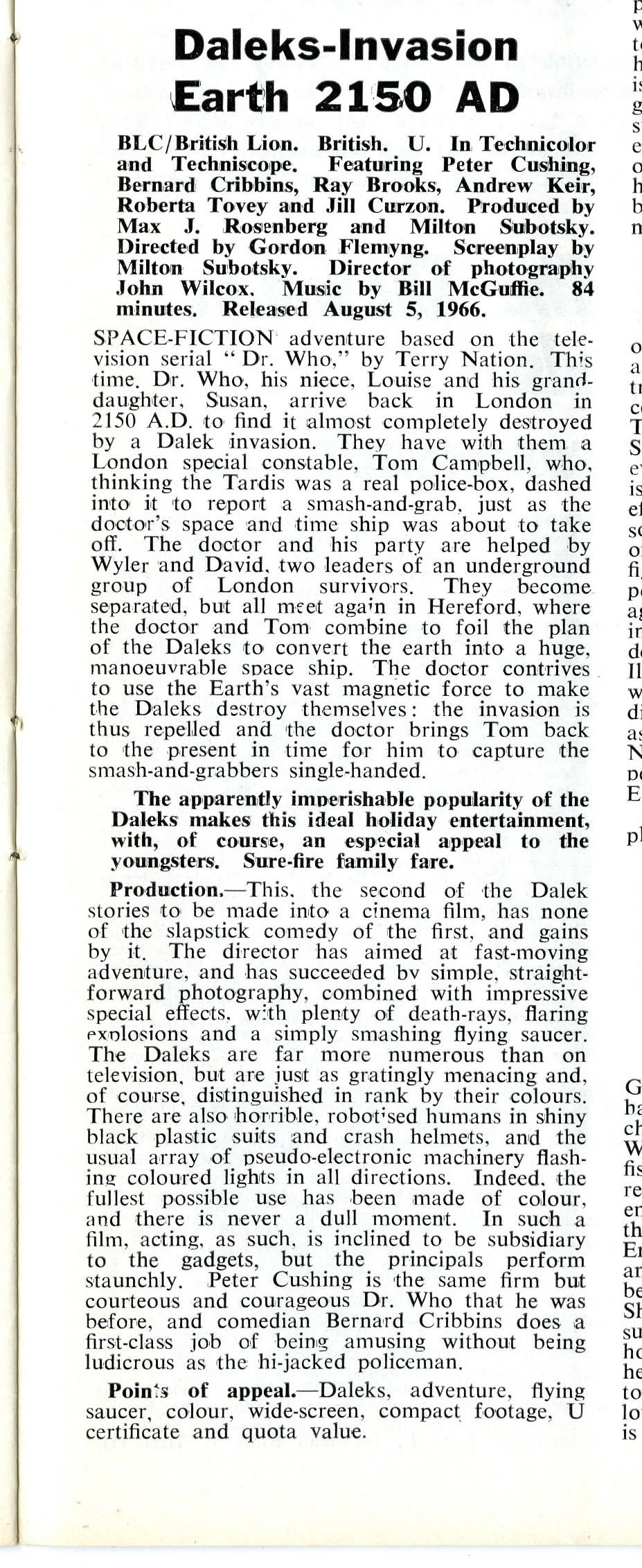 Kine Weekly, 14 July 1966
