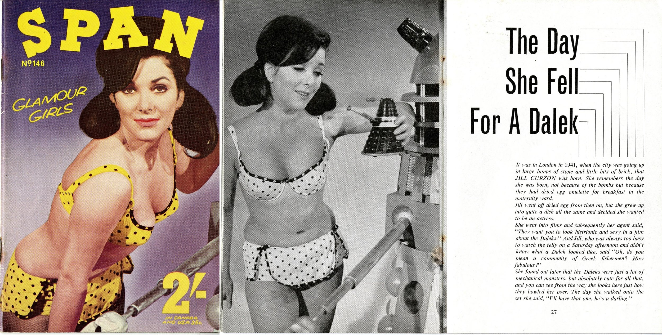 Jill Curzon in Span, vol. 13, no. 146, October 1966