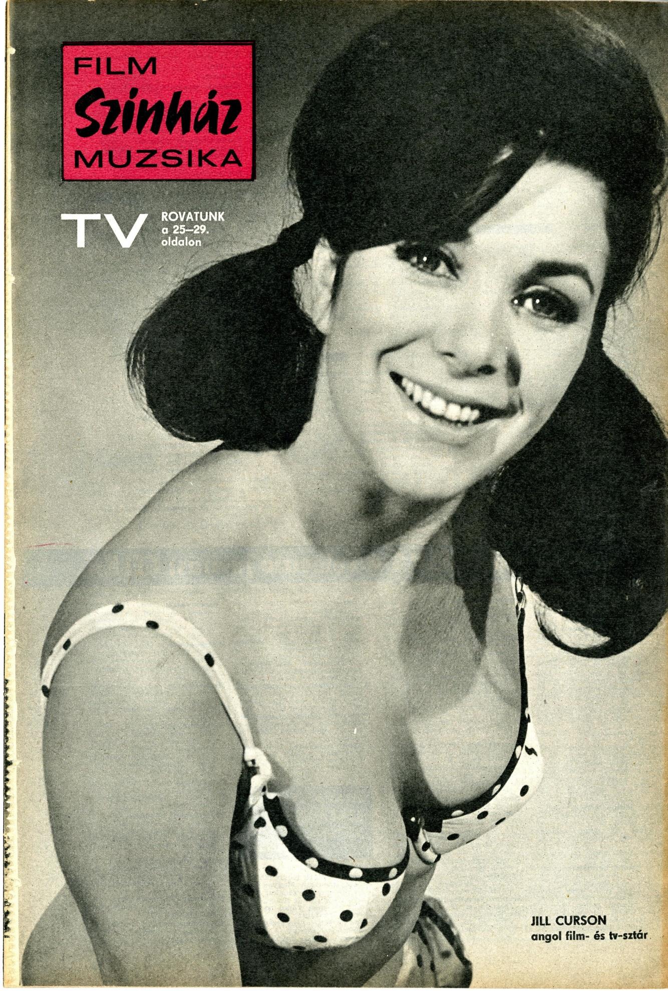 Jill Curzon in Szinhaz Film Muzsika (Hungary), 18 July 1970