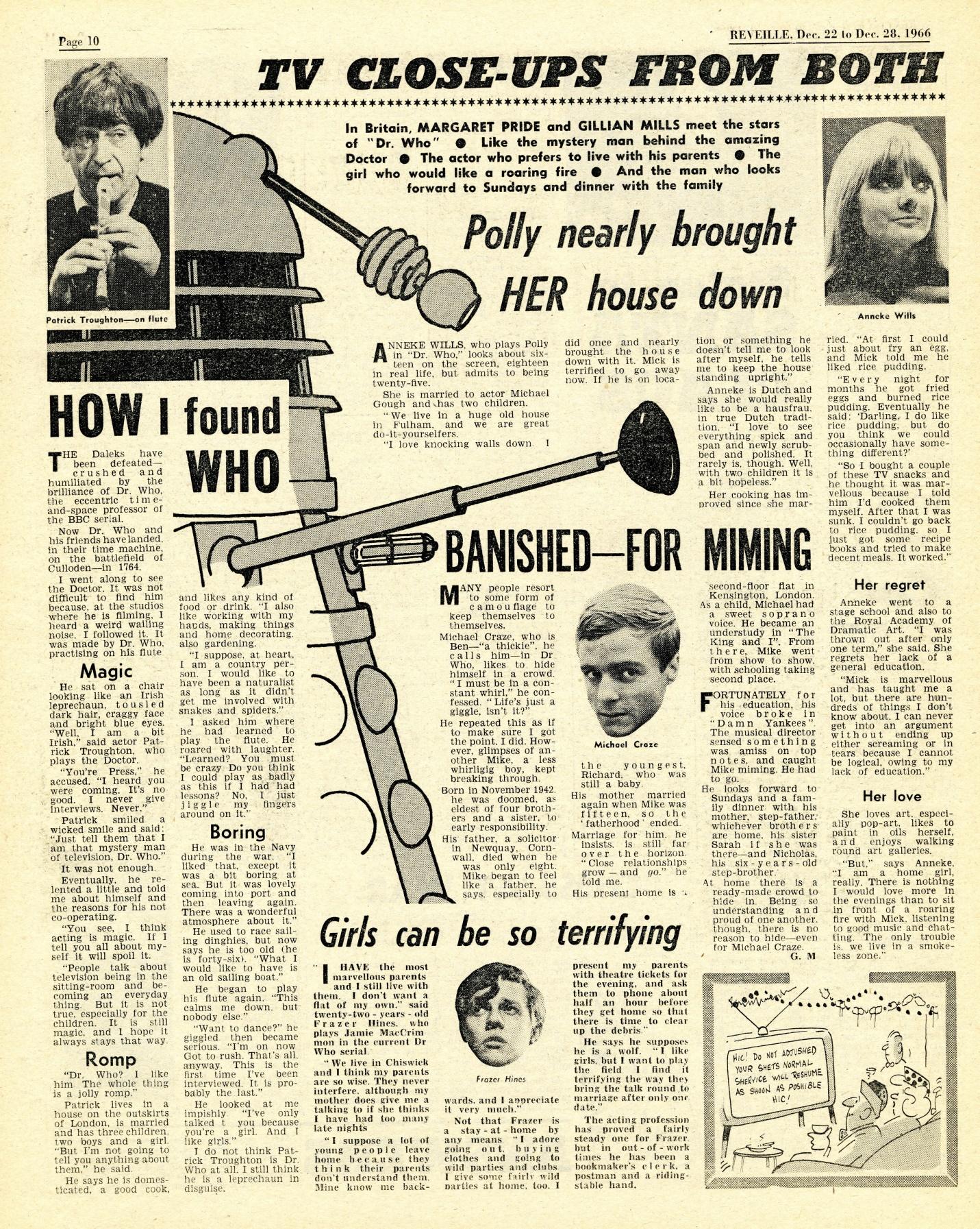 Reveille, 22-28 December 1966