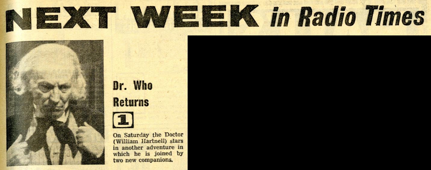 Radio Times, 3-9 September 1966