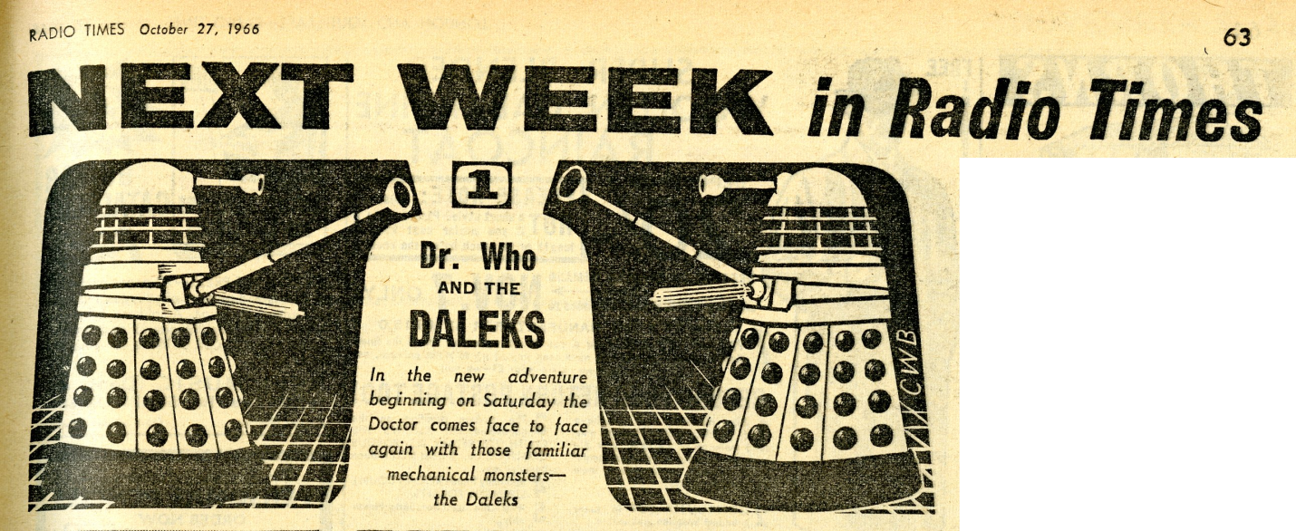 Radio Times, 29 October - 4 November 1966
