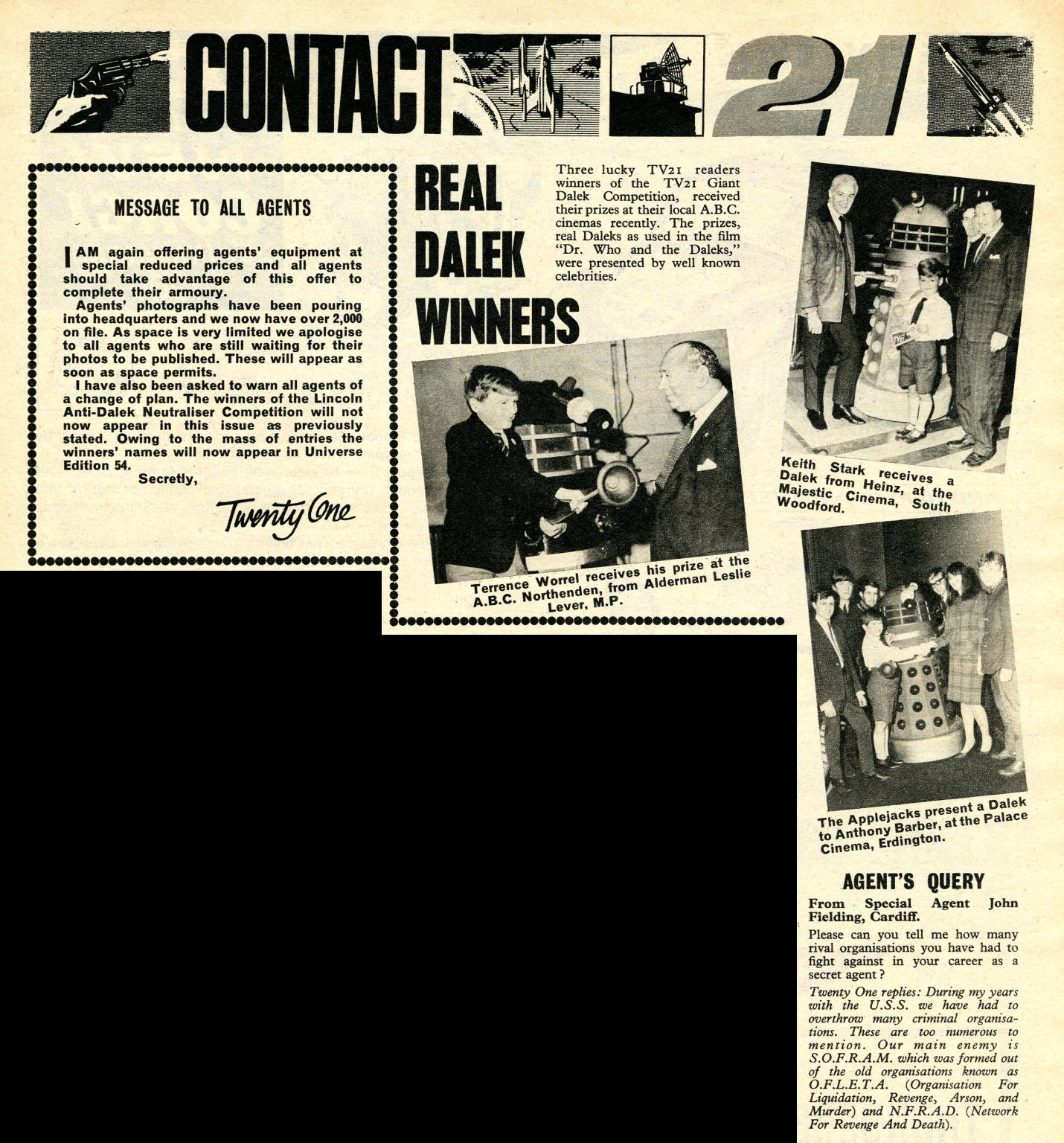 TV Century 21, no. 53, 22 January 2066 (1966)