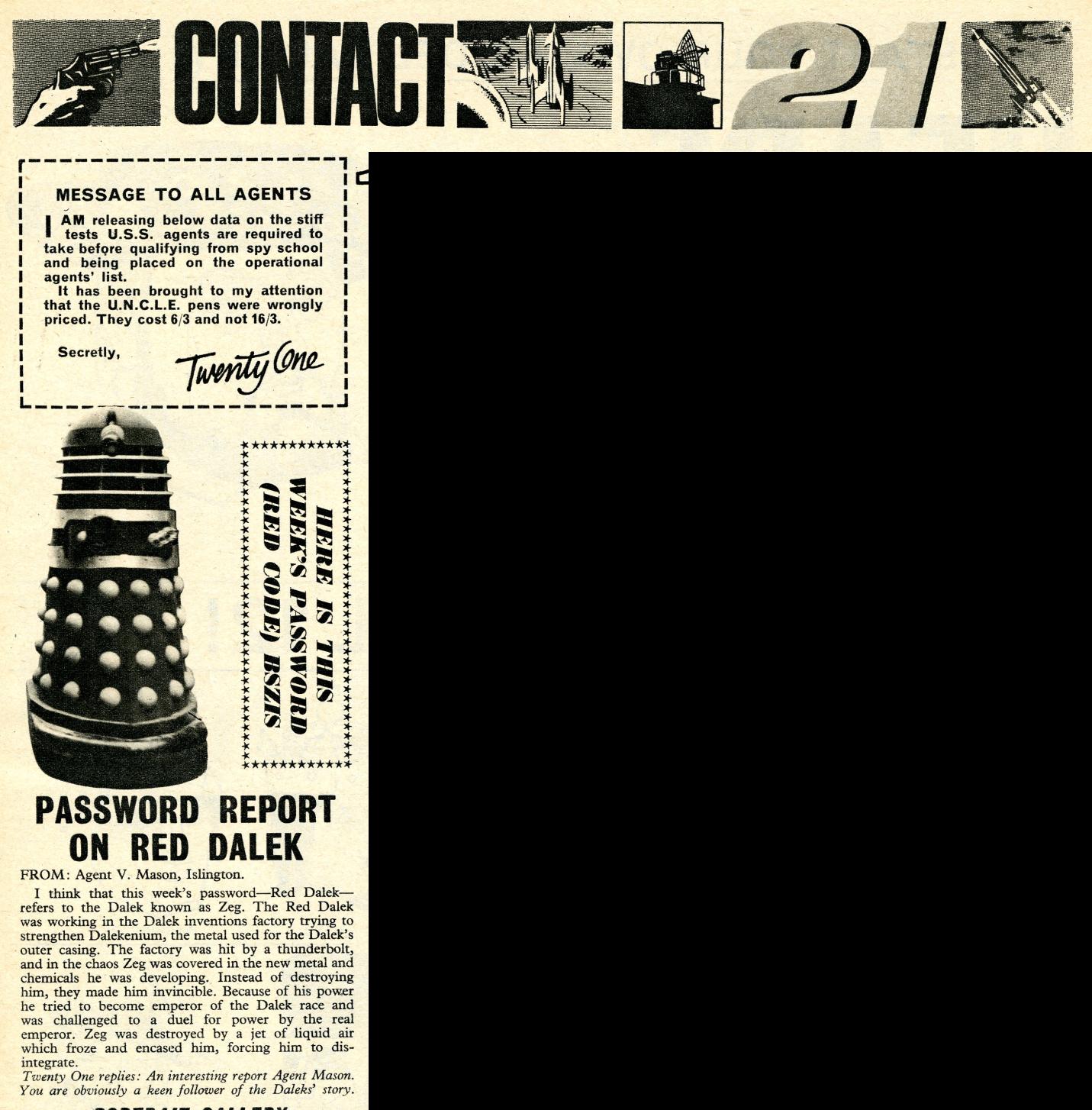 TV Century 21, no. 68, 7 May 2066 (1966)