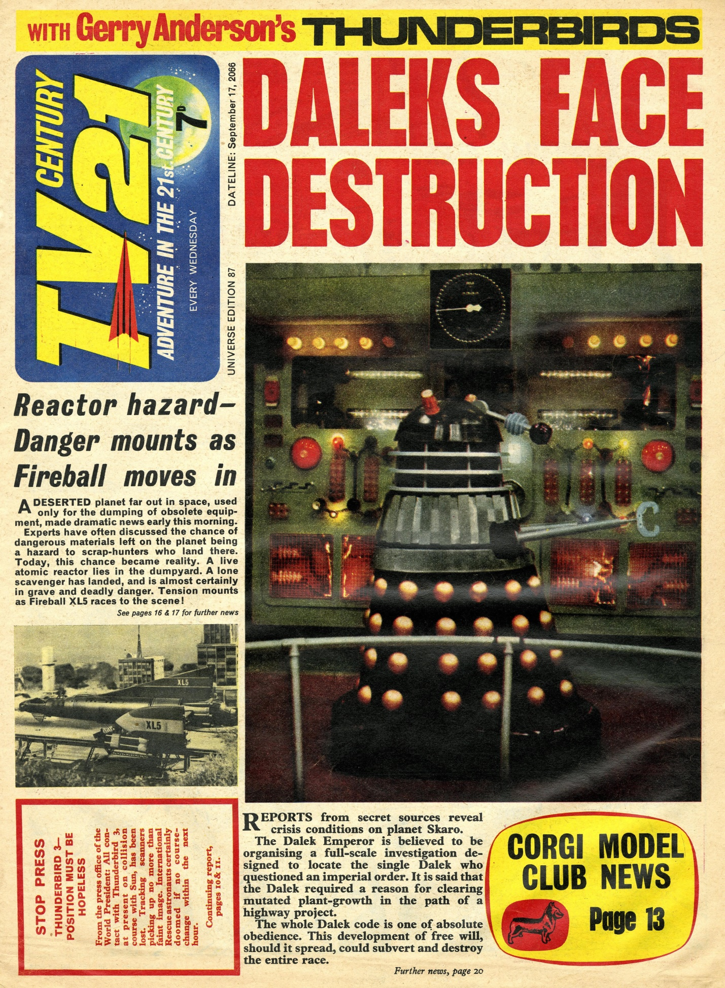 TV Century 21, no. 87, 17 September 2066 (1966)