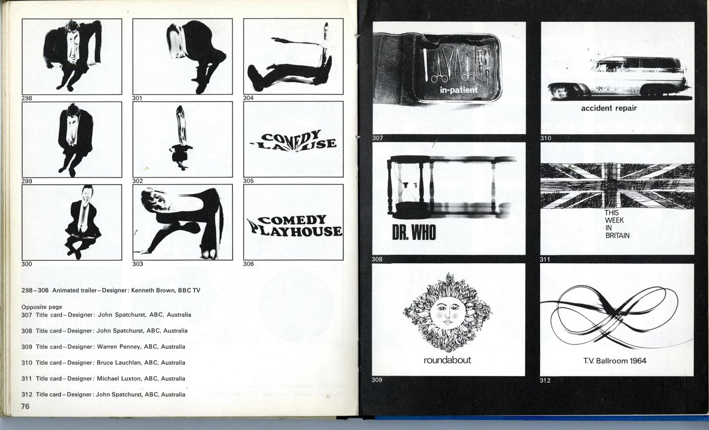 Studio Vista/Reinhold Art, TV Graphics by Roy Laughton (ed. John Lewis), Title Card for Dr. Who used on ABC Australia - Designer: John Spatchurst