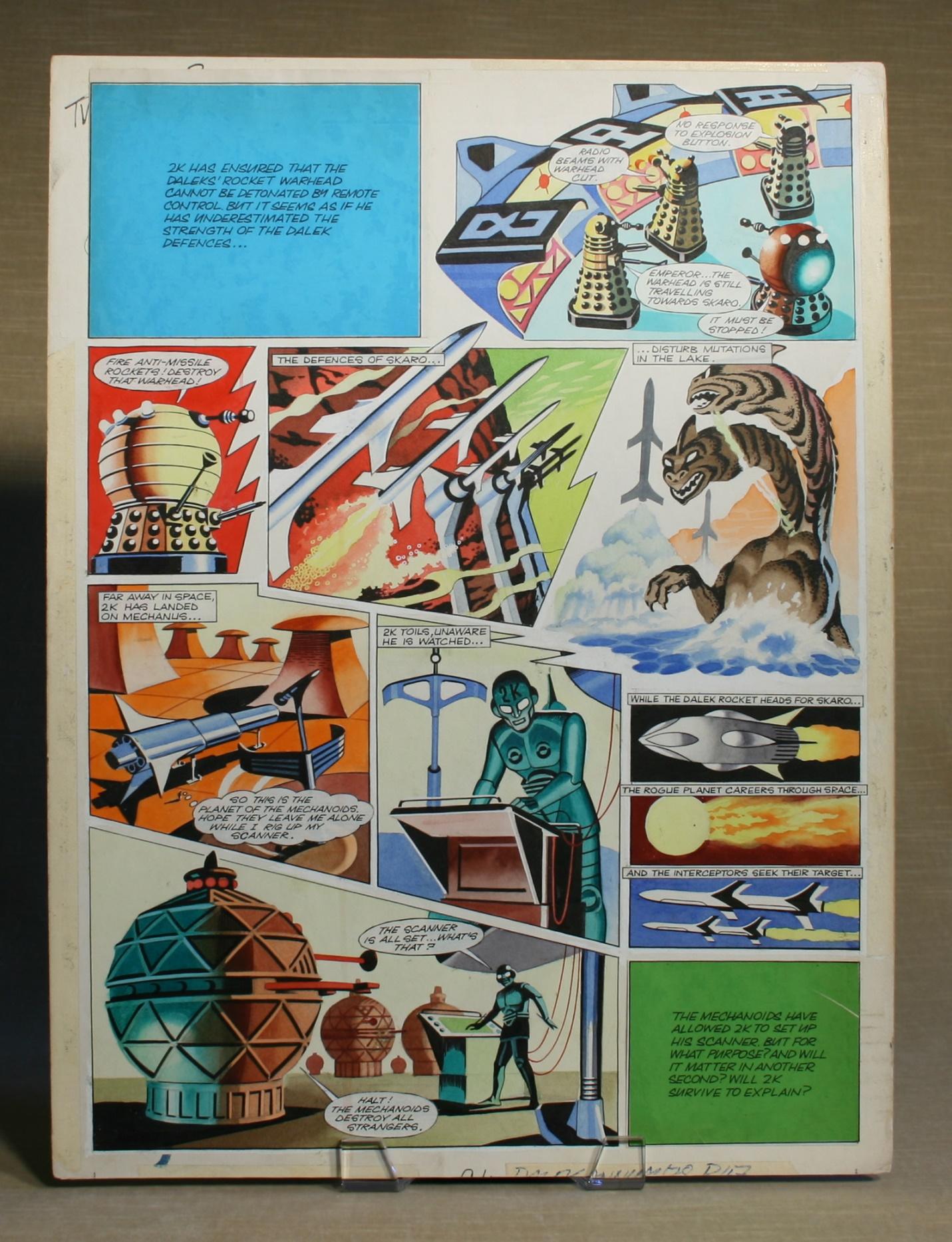 Original artwork for the Dalek strip in TV Century 21, no. 68