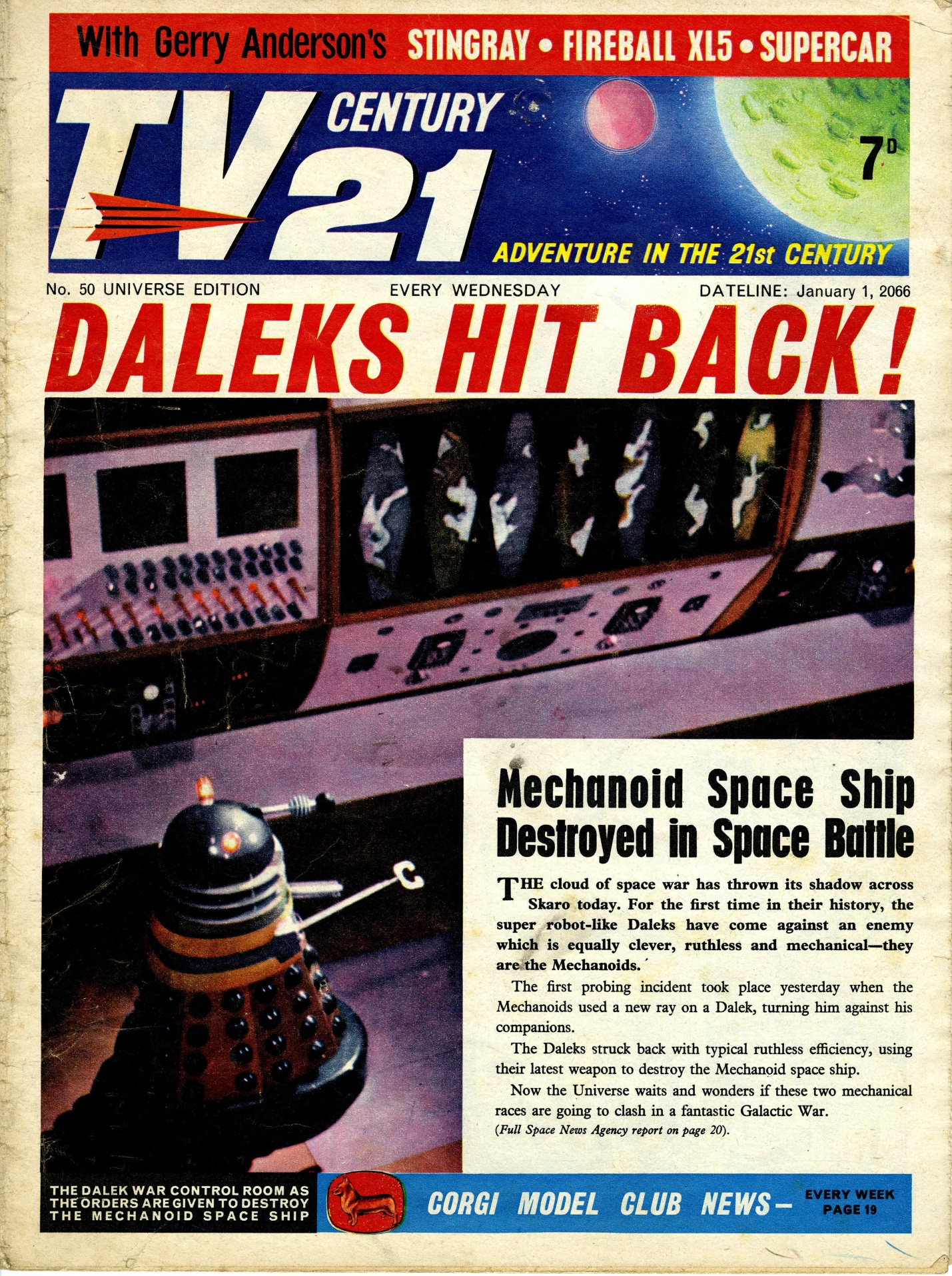 TV Century 21, no. 50, 1 January 2066 (1966)
