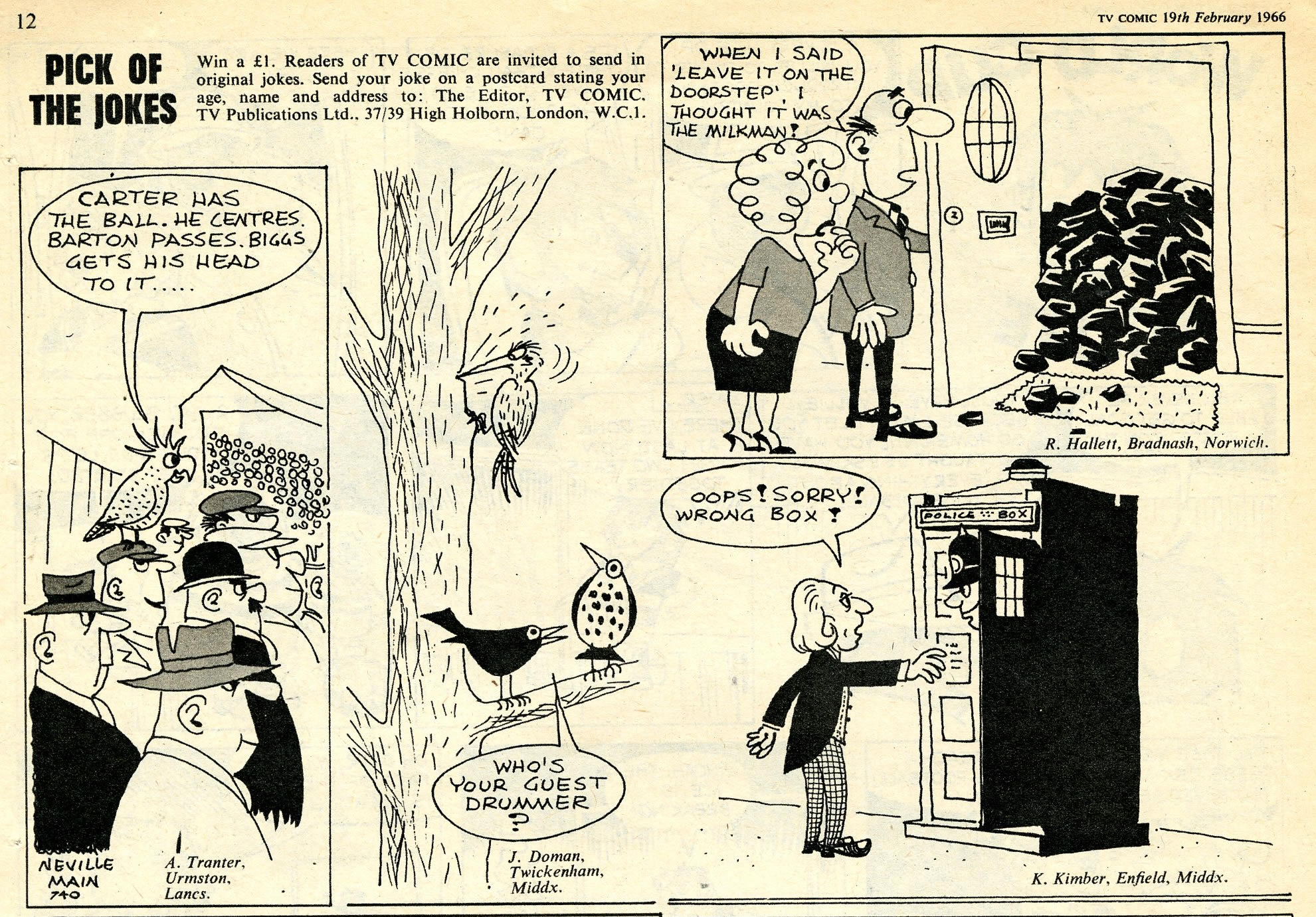 TV Comic, no. 740, 19 February 1966