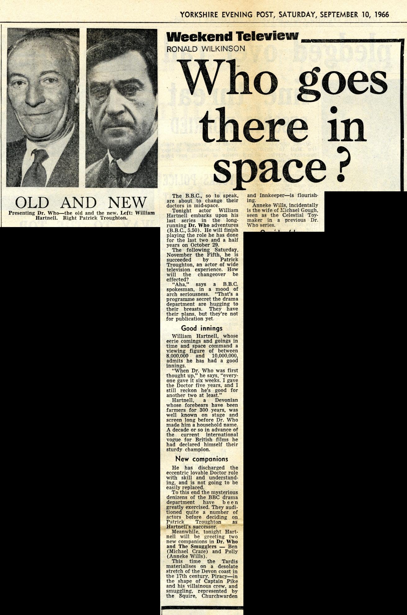 Yorkshire Evening Post, 10 September 1966