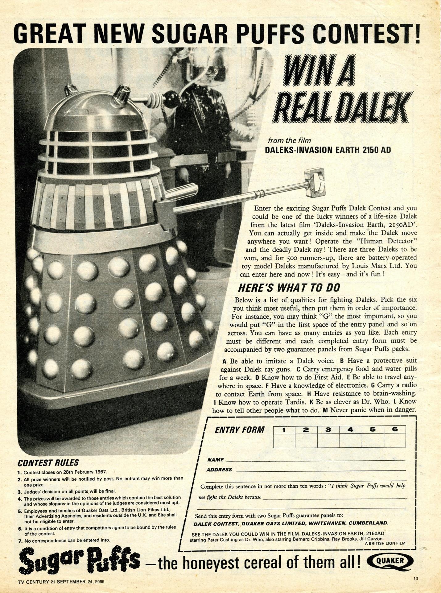 TV Century 21, no. 88, 24 September 2066 (1966)