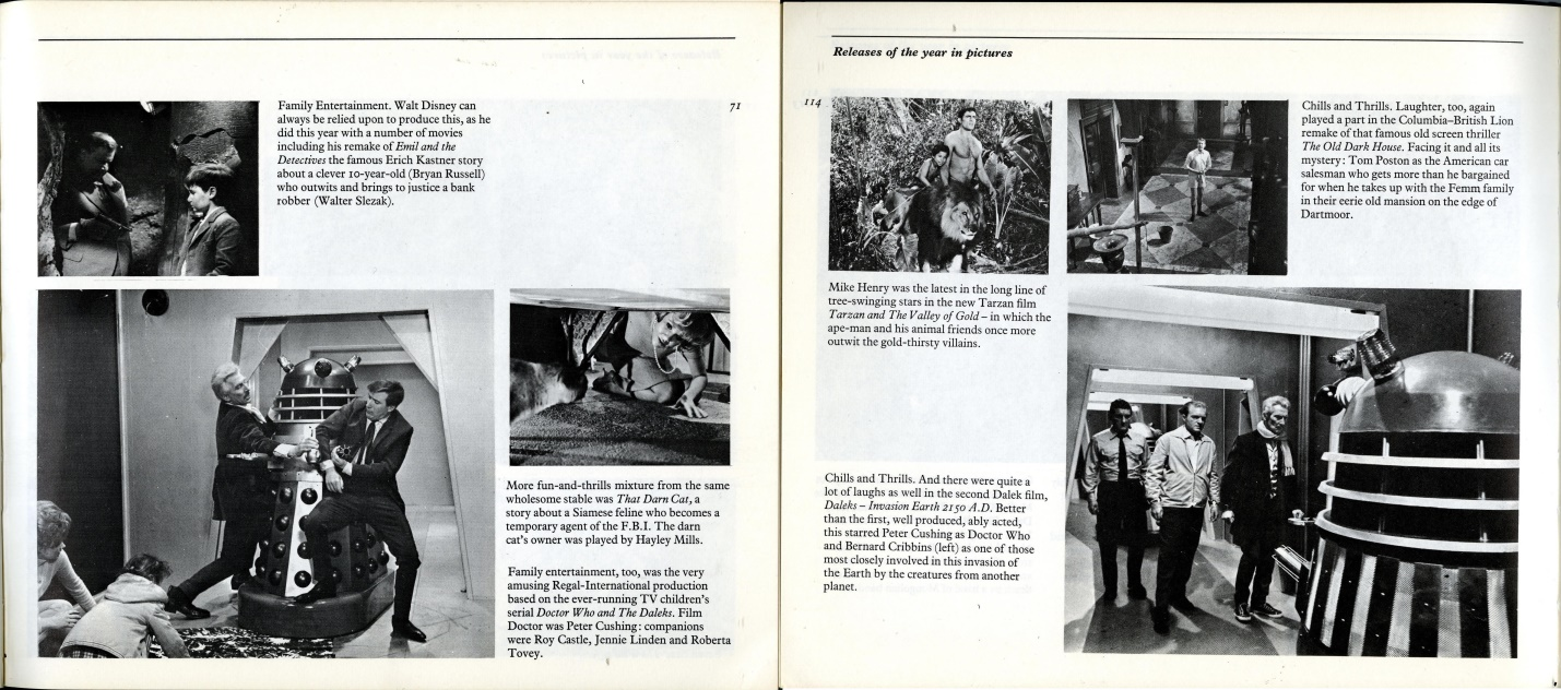 Film Review 1966-1968, F. Maurice Speed (ed.), with reviews of Dr. Who and the Daleks and Daleks - Invasion Earth: 2150.