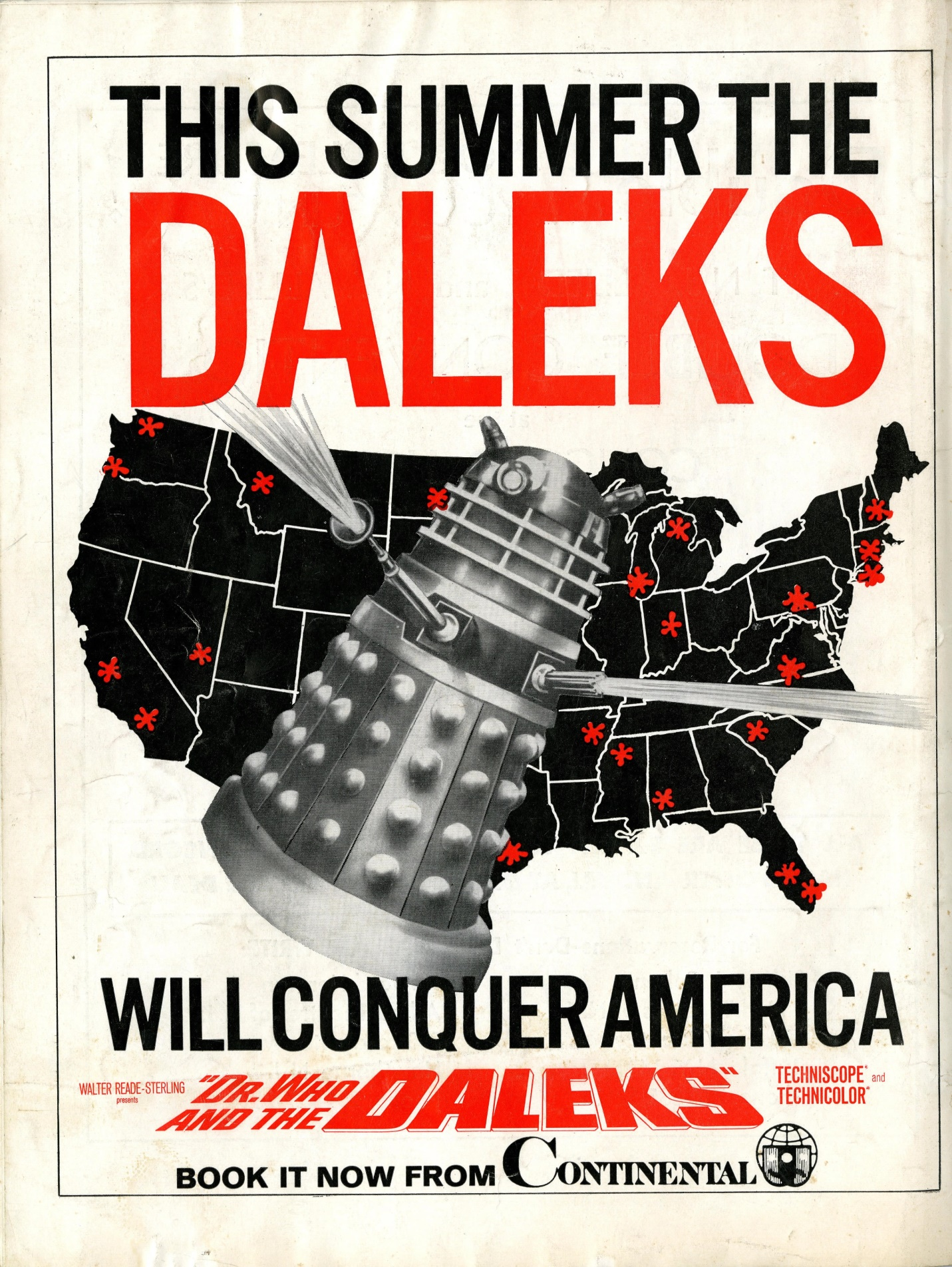 Motion Picture Herald, 6 July 1966. Ad. for the launch of Dr. Who and the Daleks in the USA.