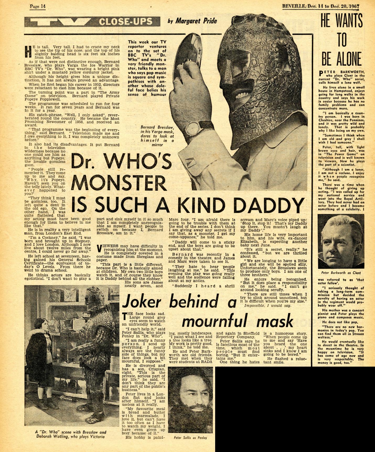 Reveille, 14-20 December 1967
