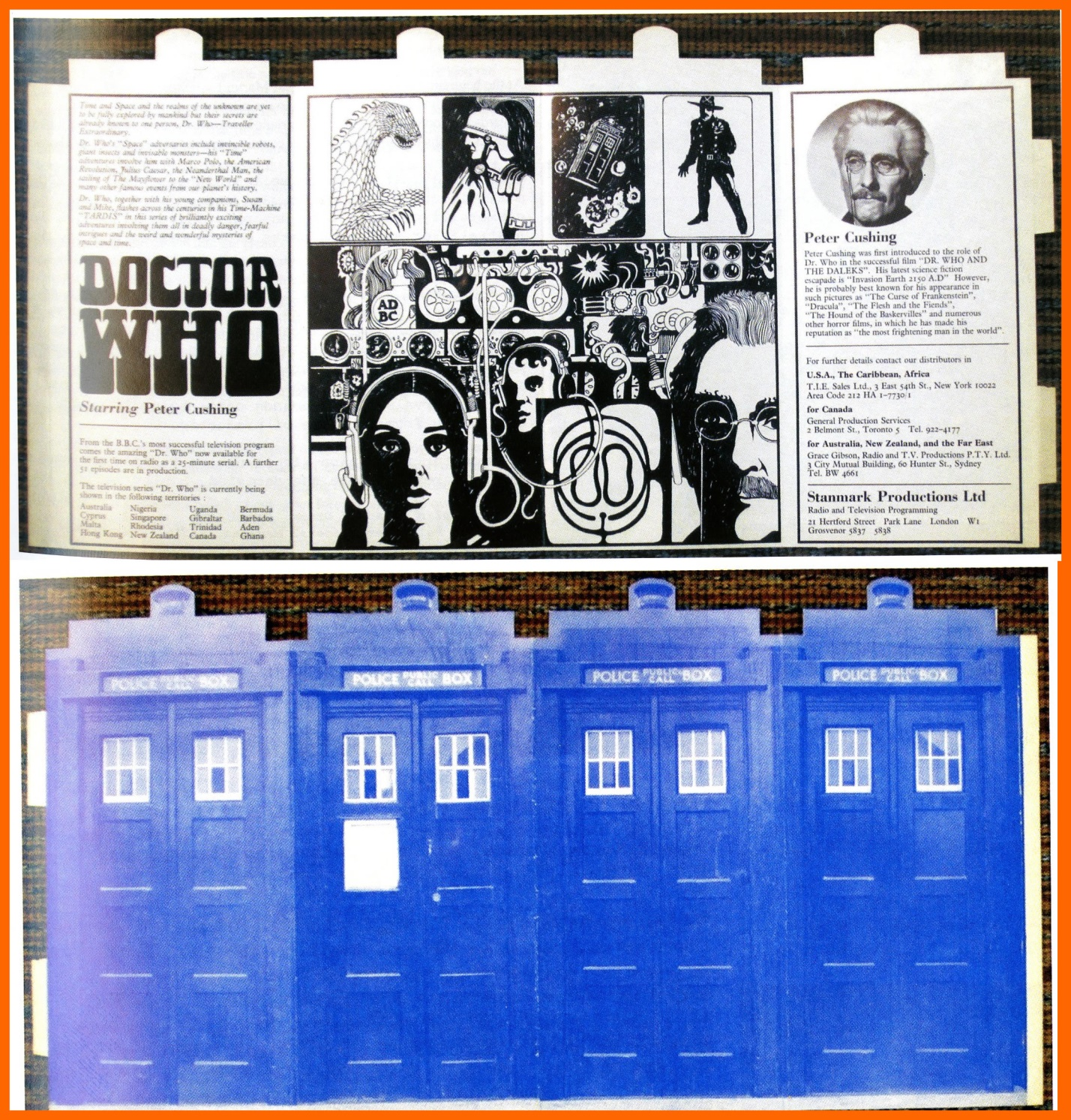 WANTED - Stanmark Productions Ltd., promotional item for a proposed series of Doctor Who radio plays, starring Peter Cushing (Image courtesy of Richard Bignell)