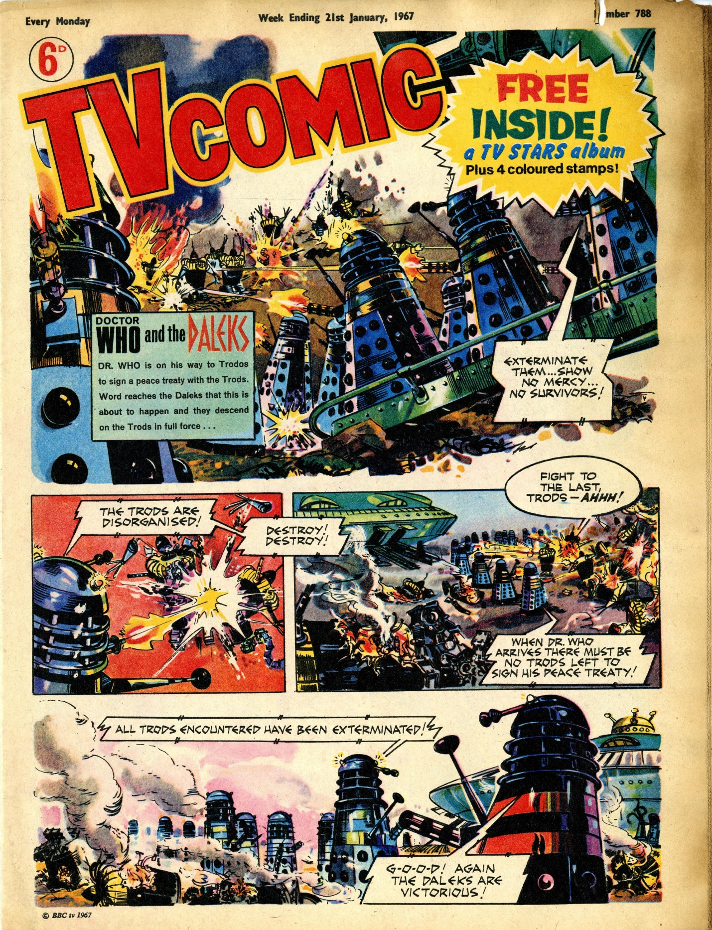 First appearance of the Daleks in TV Comic, number 788, 21 January 1967