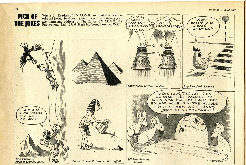 Dalek cartoon in TV Comic number 798, 1 April 1967