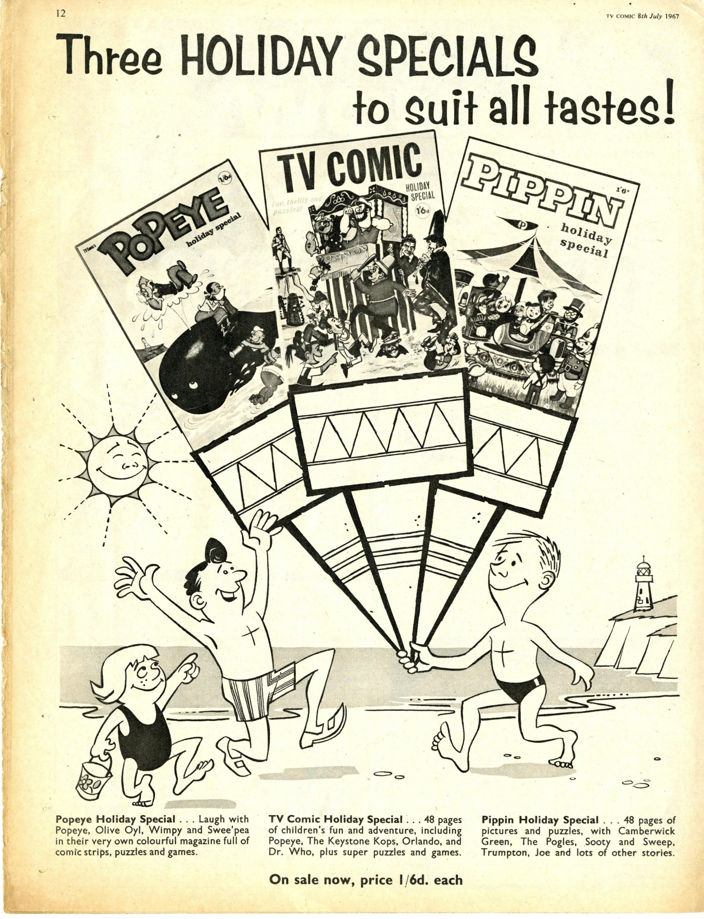 Ad. for the TV Comic Holiday Special in TV Comic number 812, 8 July 1967