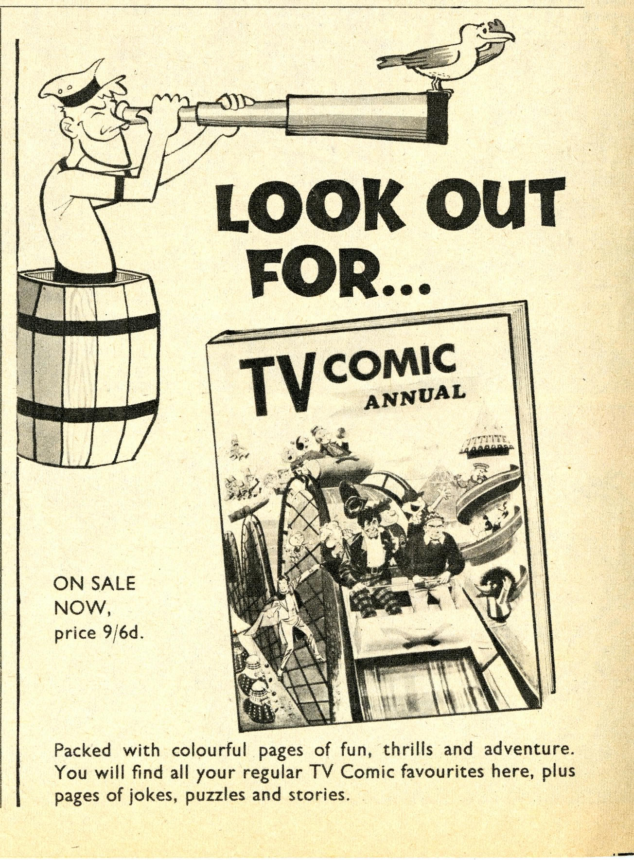 Ad. for the TV Comic Annual 1968 in TV Comic number 821, 9 September 1967