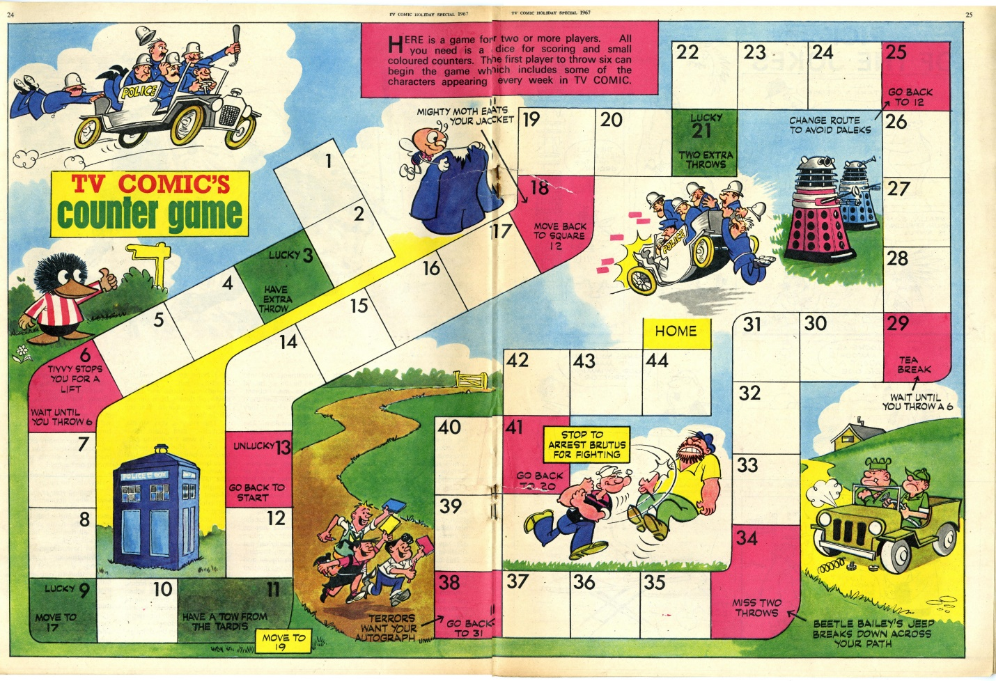 Counter game in TV Comic Holiday Special 1967