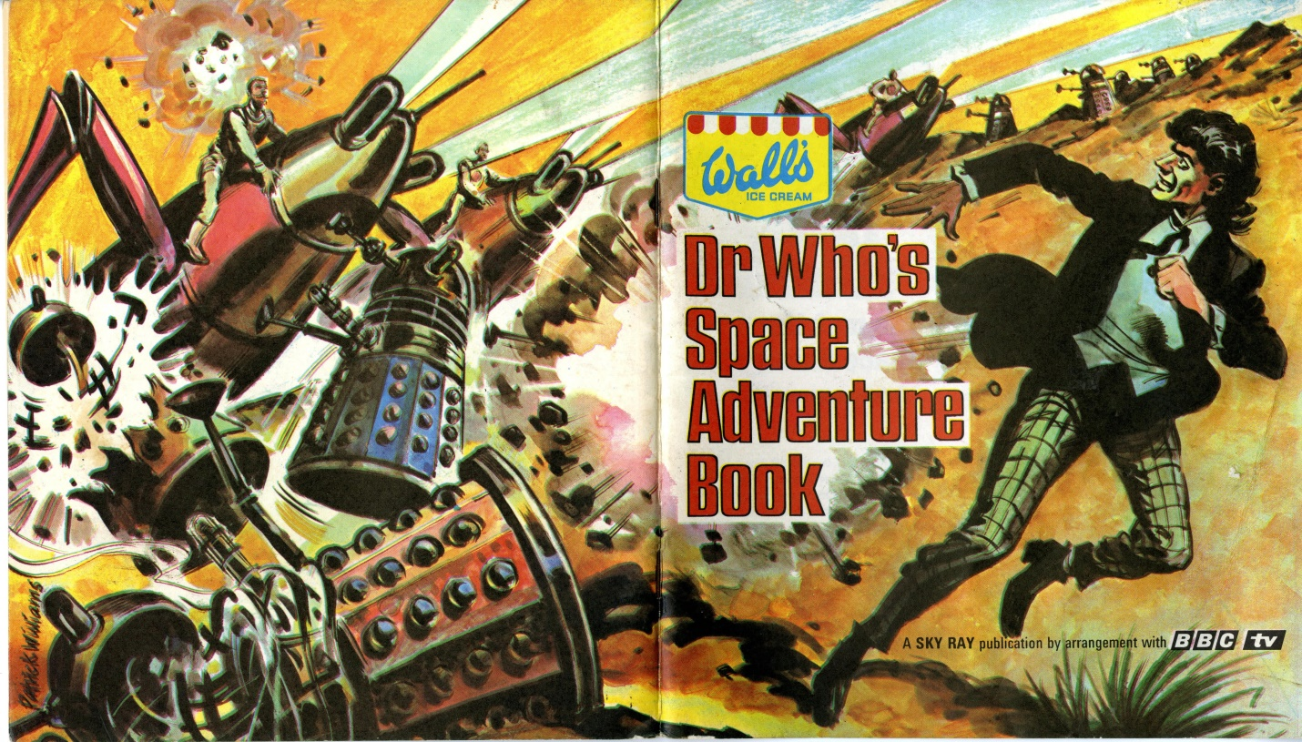 Dr. Who's Space Adventure Book, an album for the cards given away with Wall's Sky Ray lollies