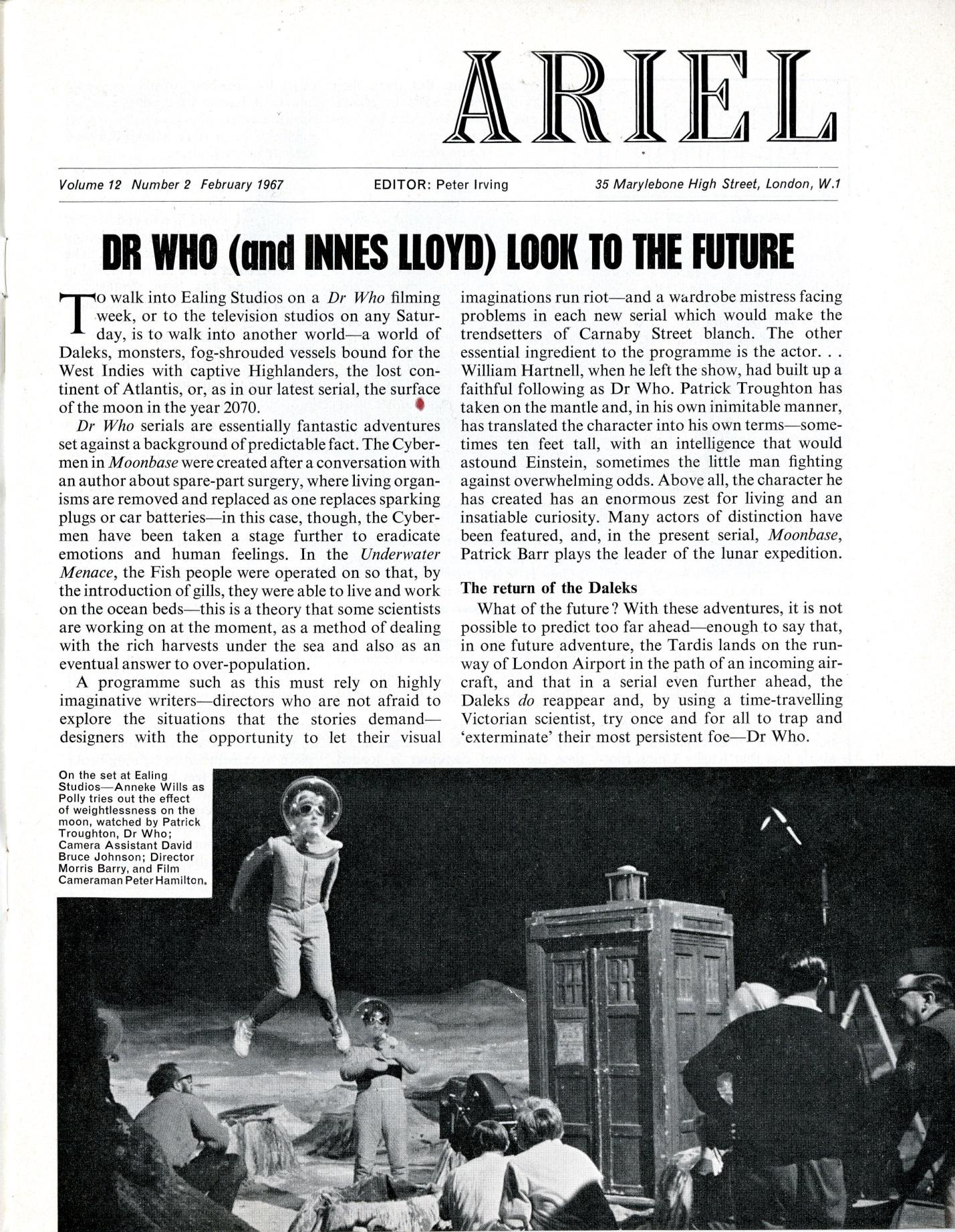 Ariel, vol. 12, number 2, February 1967