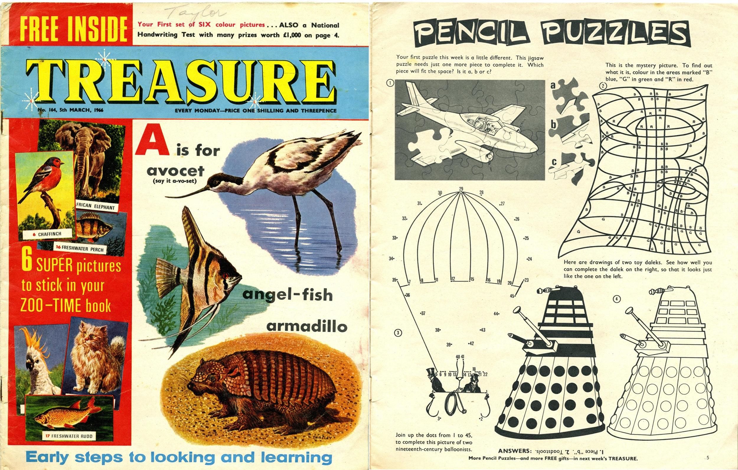 Treasure, 5 March 1966
