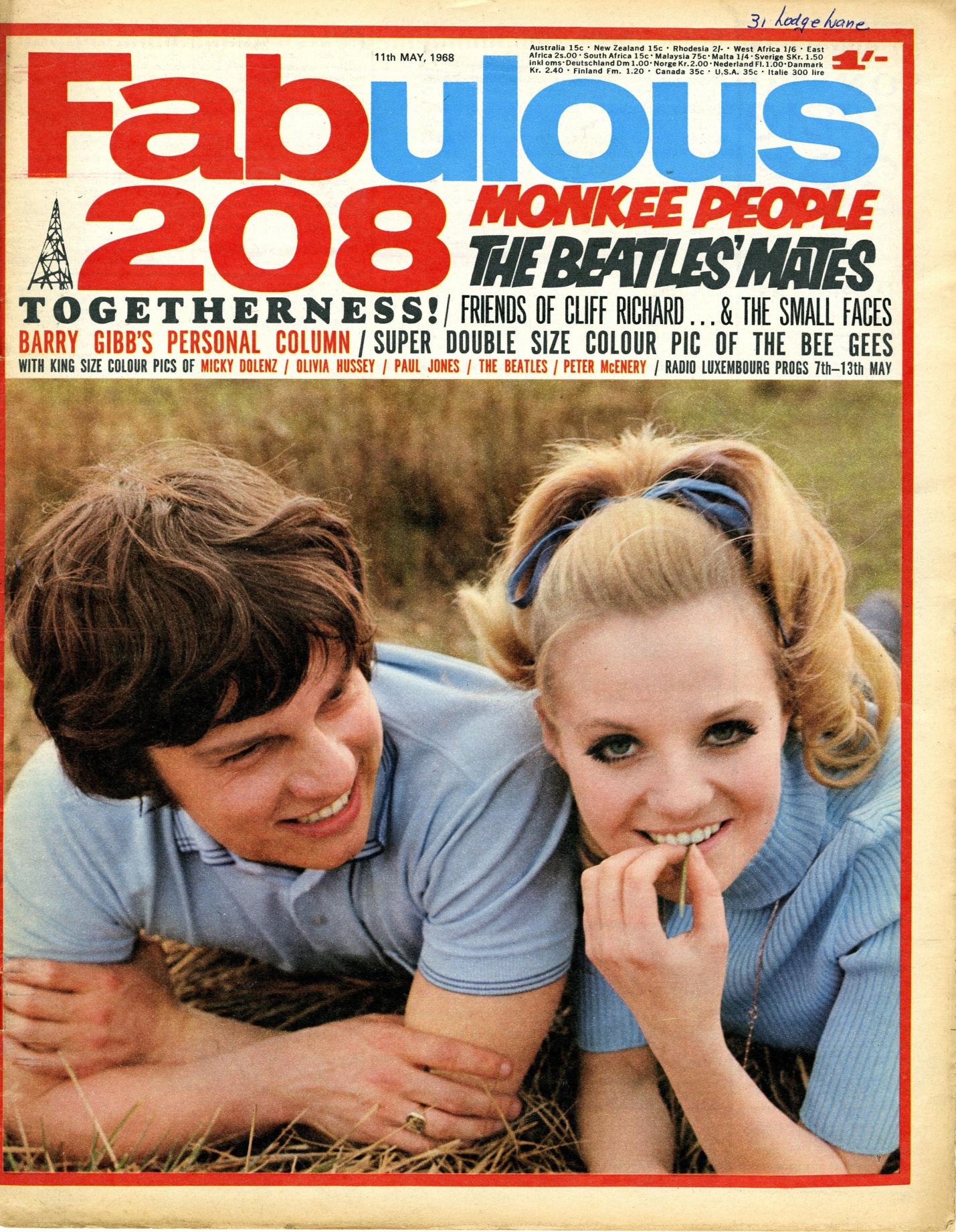 Fabulous, number 208, 11 May 1968