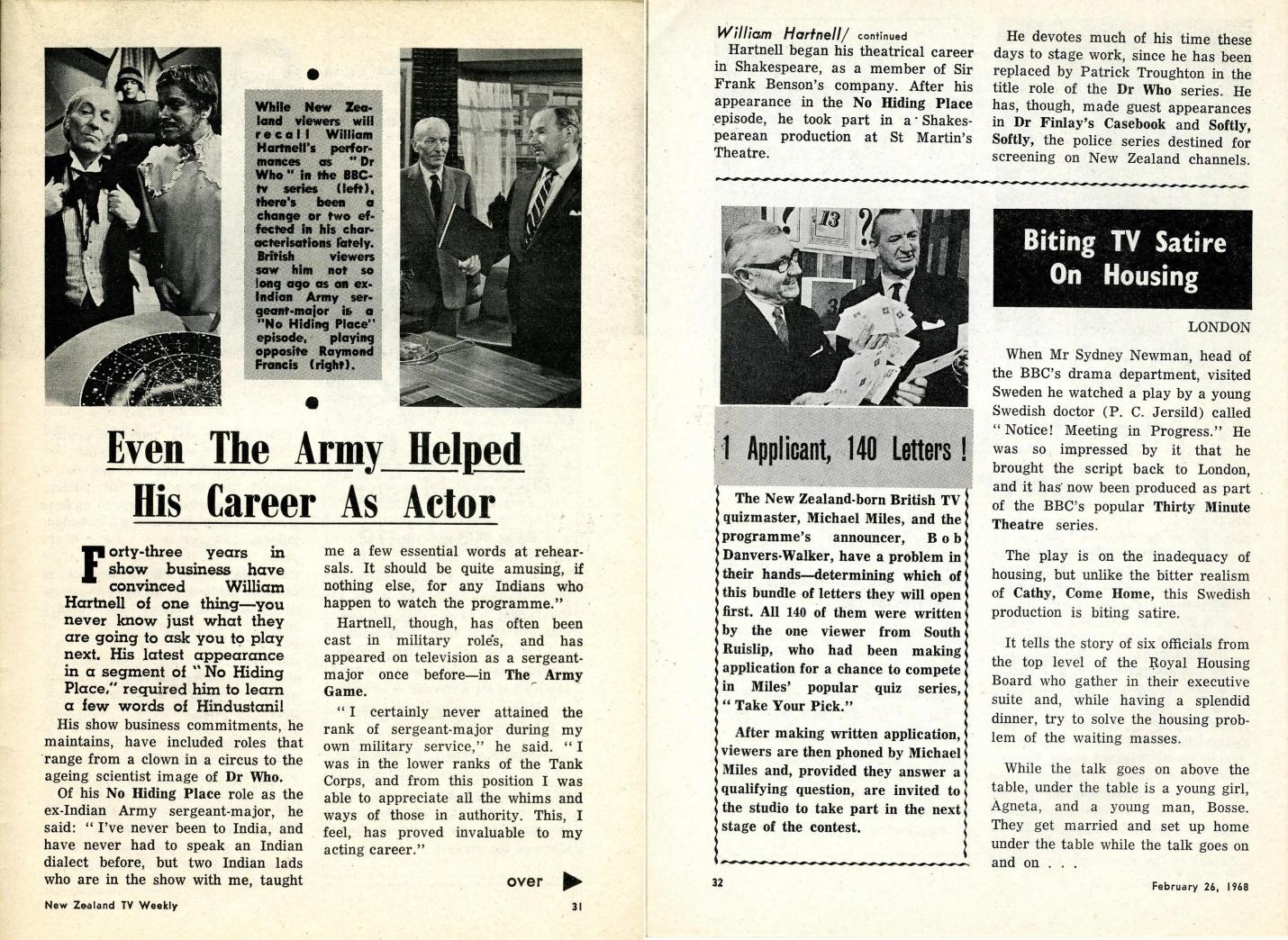 New Zealand TV Weekly, 26 February 1968