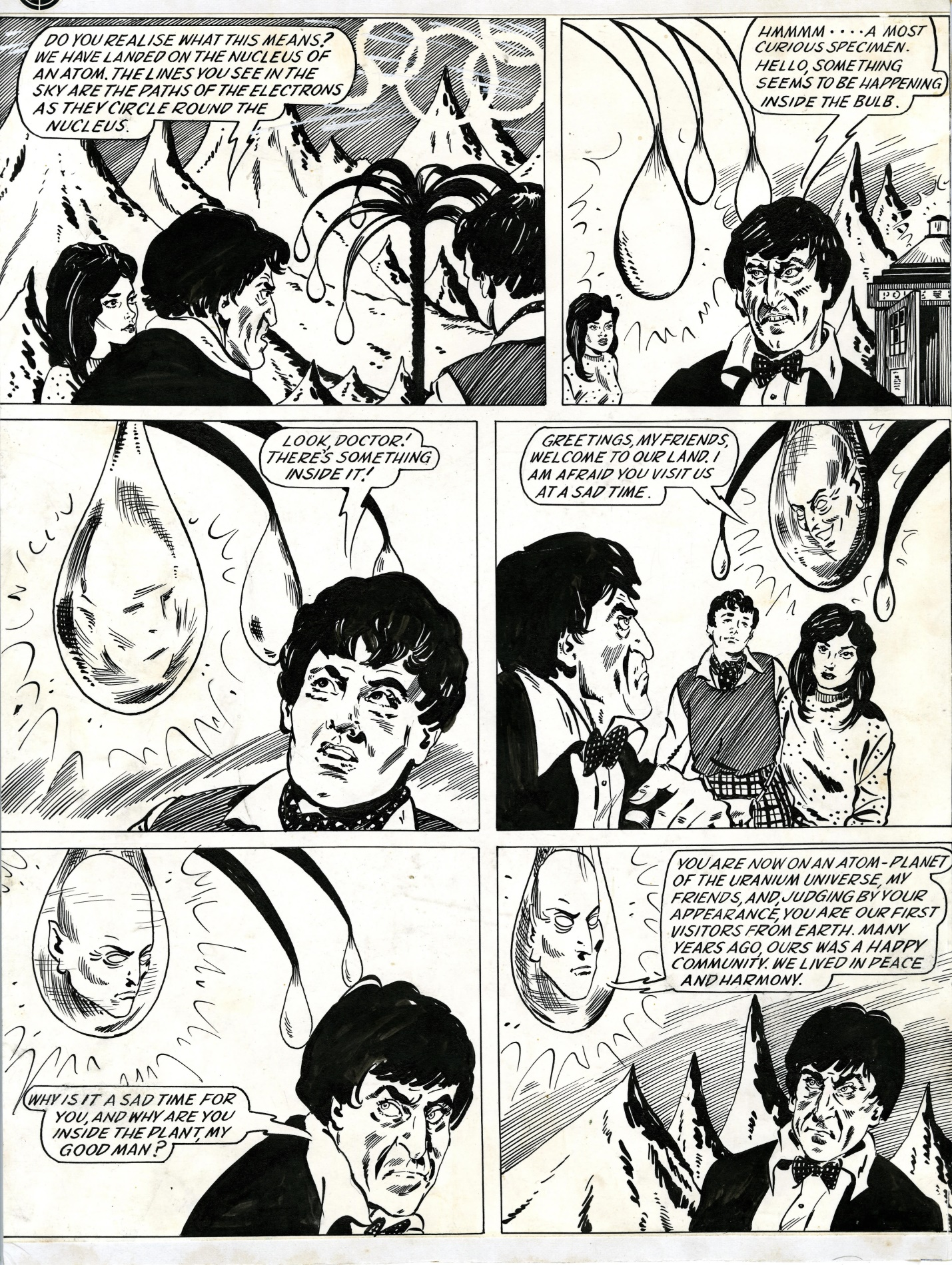 Original artwork for Atoms Infinite in The Dr. Who Annual 1968