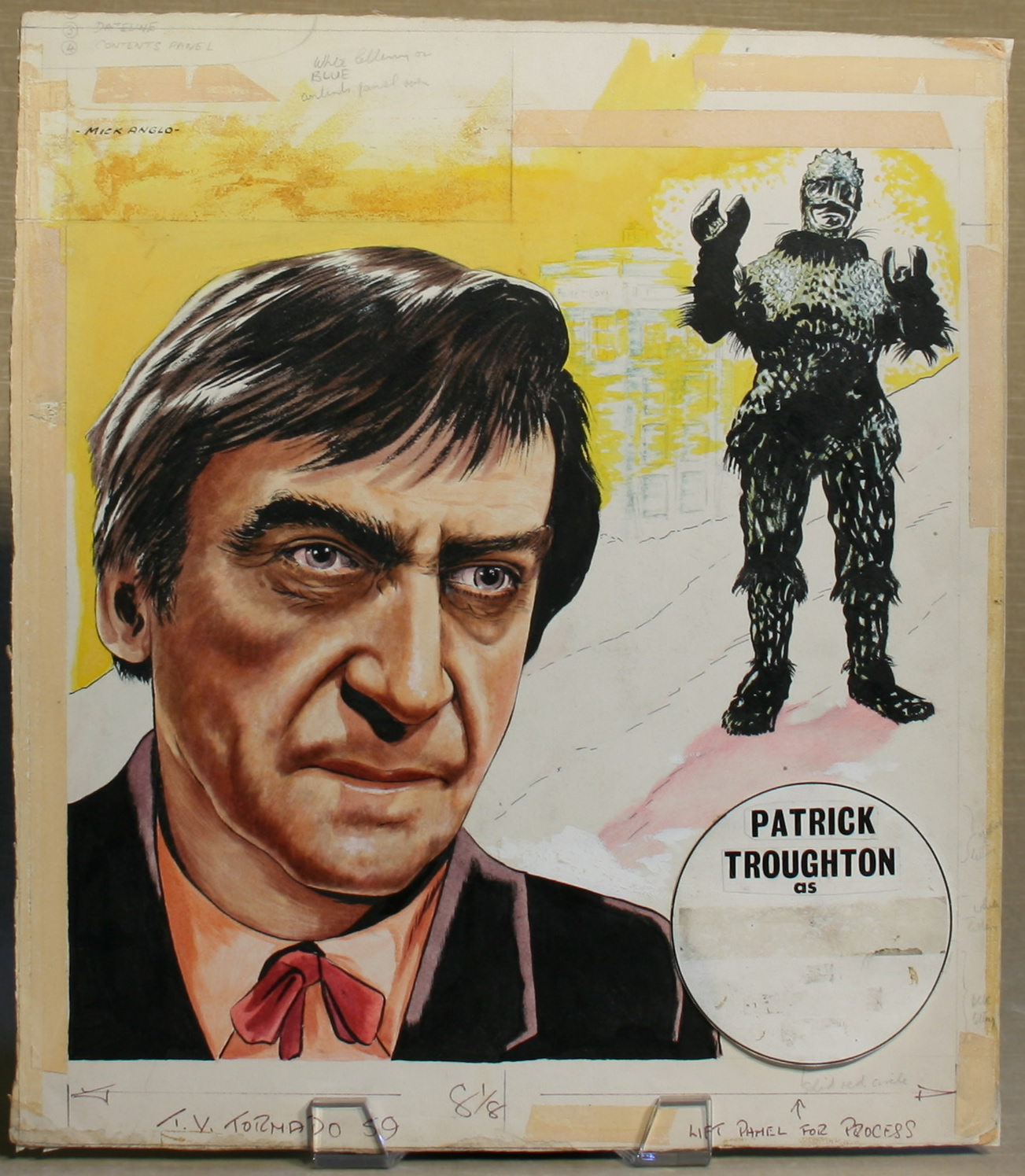 Original artwork painted by Mick Anglo for the cover of TV Tornado, number 59, 24 February 1968