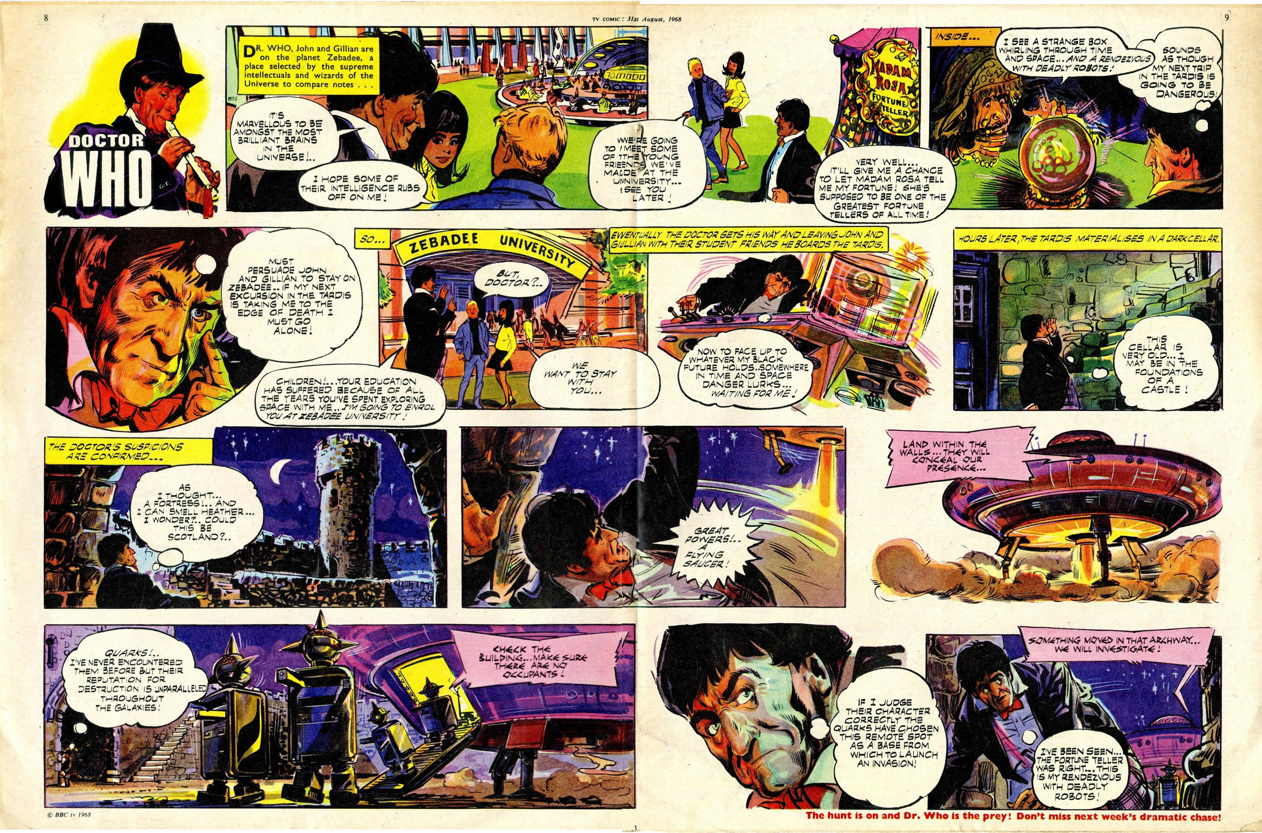 Final appearance of John and Gillian in TV Comic, number 872, 31 August 1968