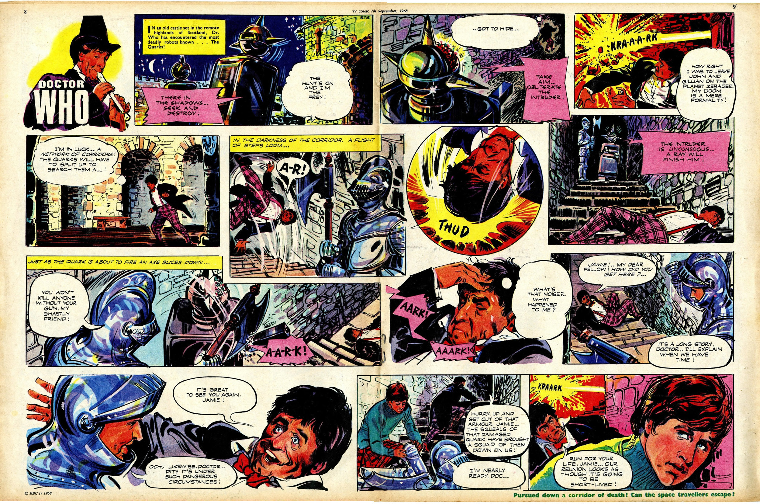 First appearance of Jamie in TV Comic, number 873, 7 September 1968