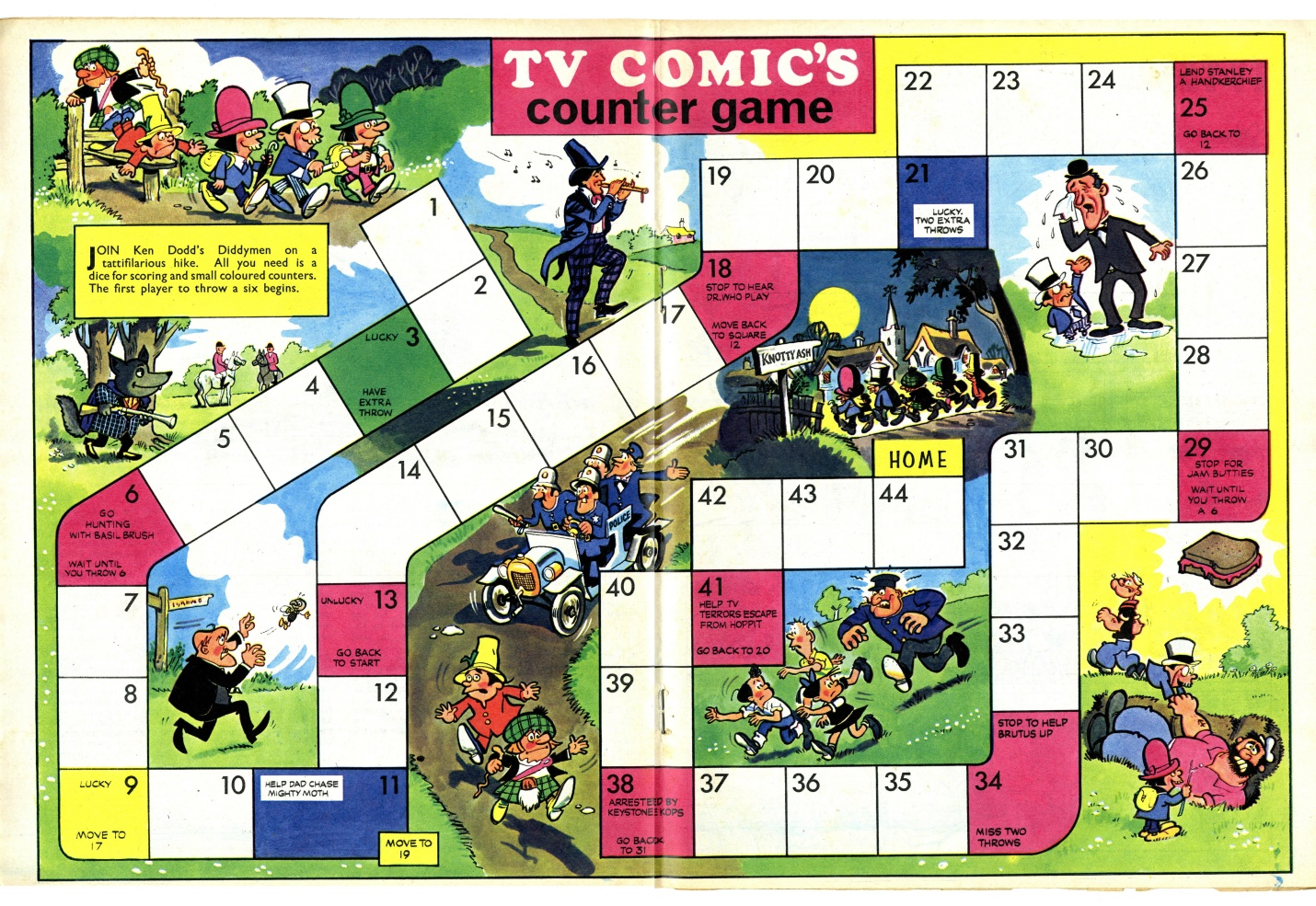 Counter Game in the TV Comic Holiday Special 1968