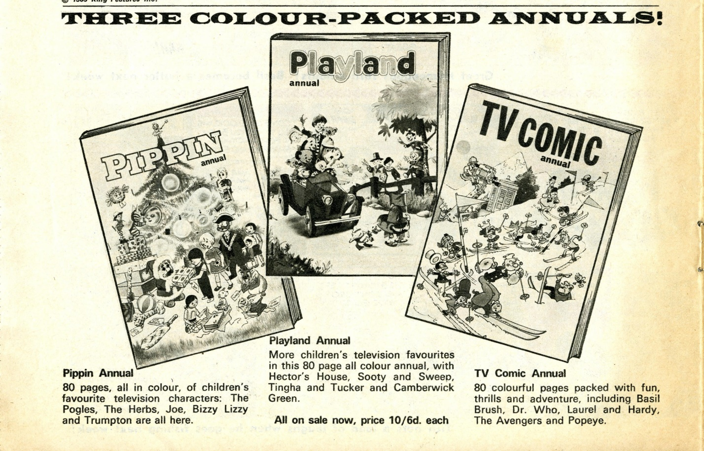 Ad. for the TV Comic Annual 1970 in TV Comic no. 931, 18 October 1969