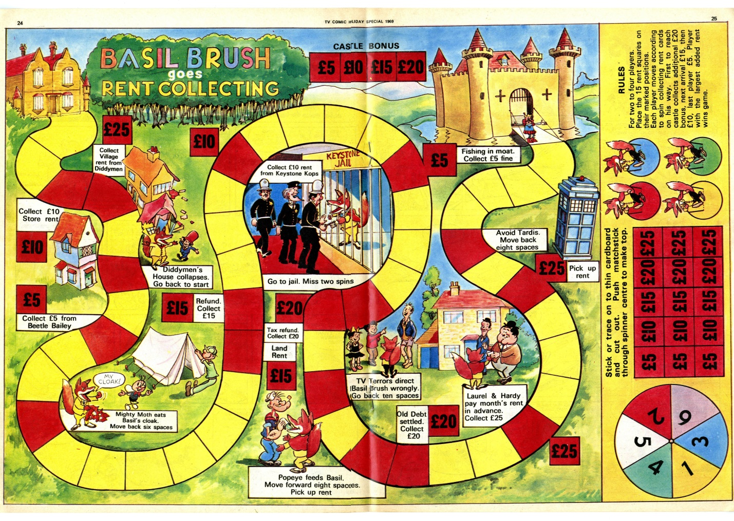 Counter Game in the TV Comic Holiday Special 1969