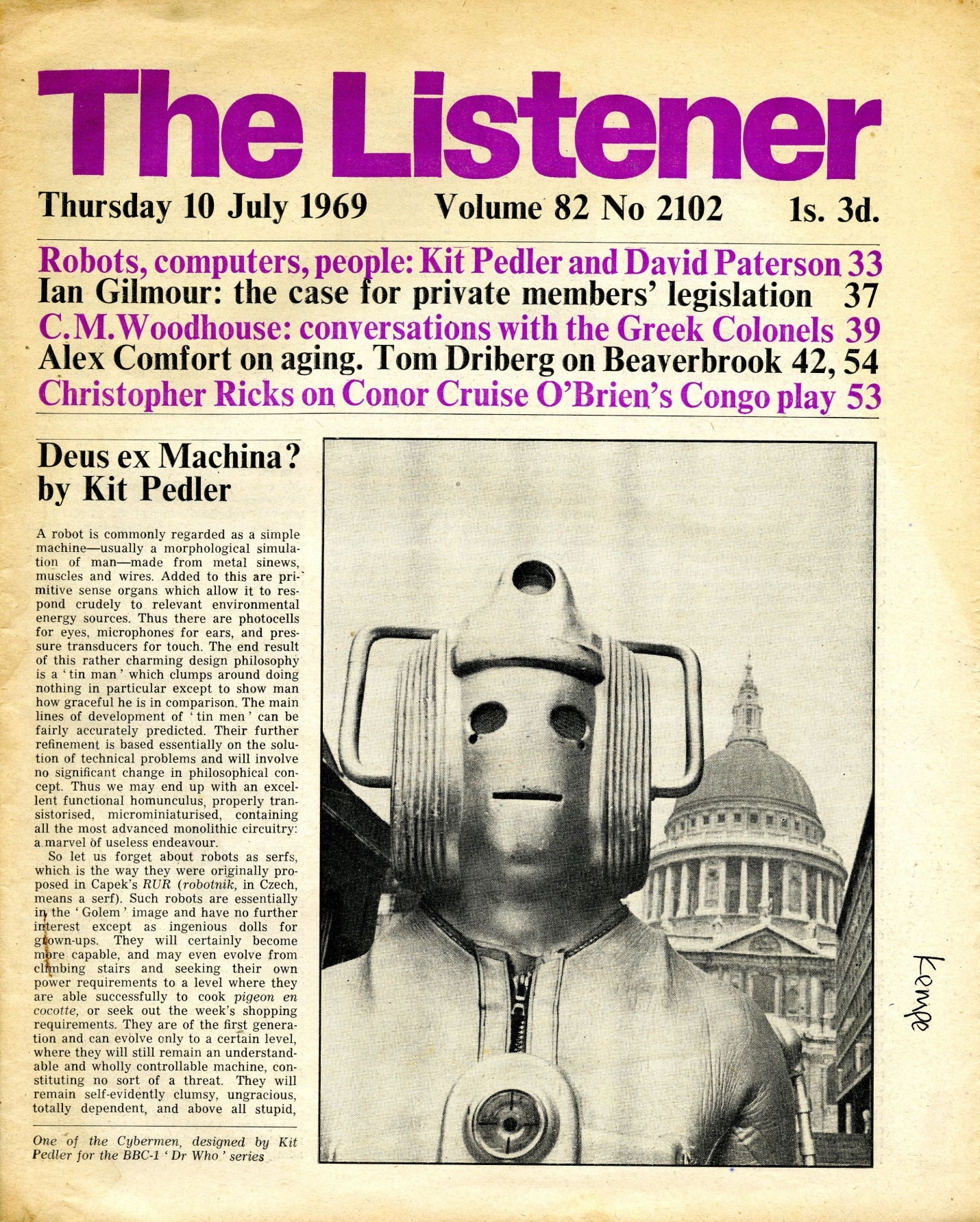 The Listener, published by the BBC, dated 10 July 1969