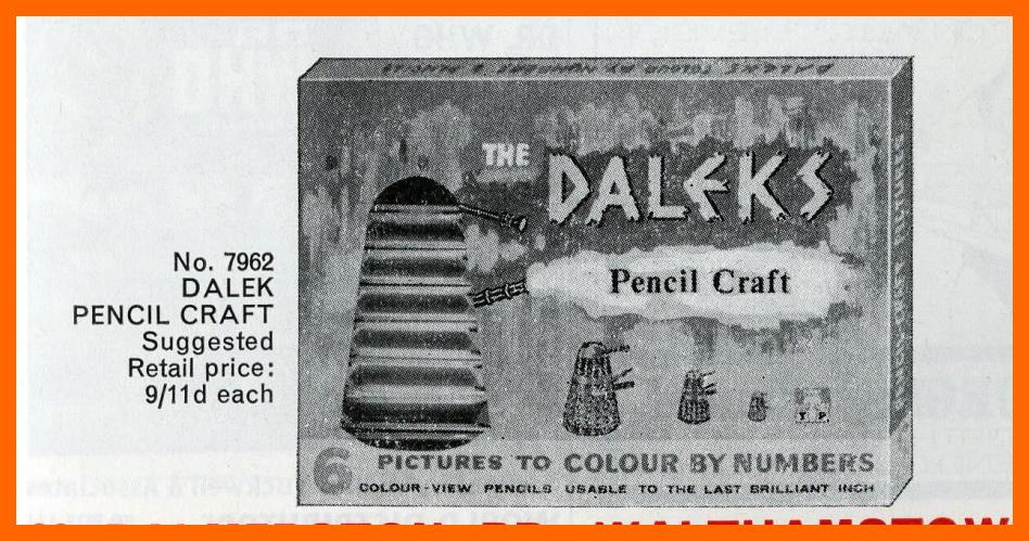 WANTED - Tower Press, Dalek Pencil Craft Set