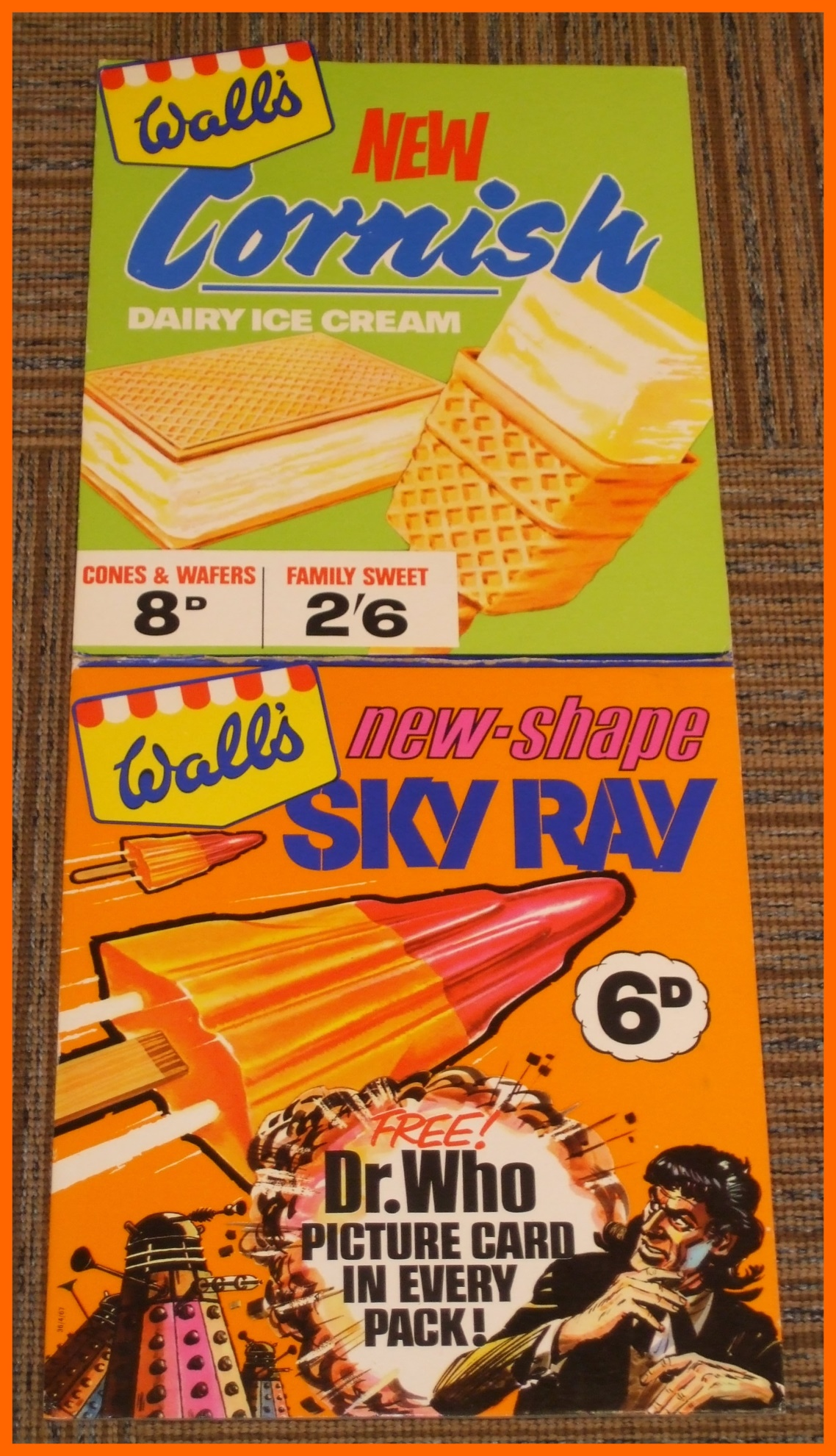 WANTED - Shop advertising display of the Wall's Sky Ray Dr. Who promotion (image courtesy of Richard Bignell)