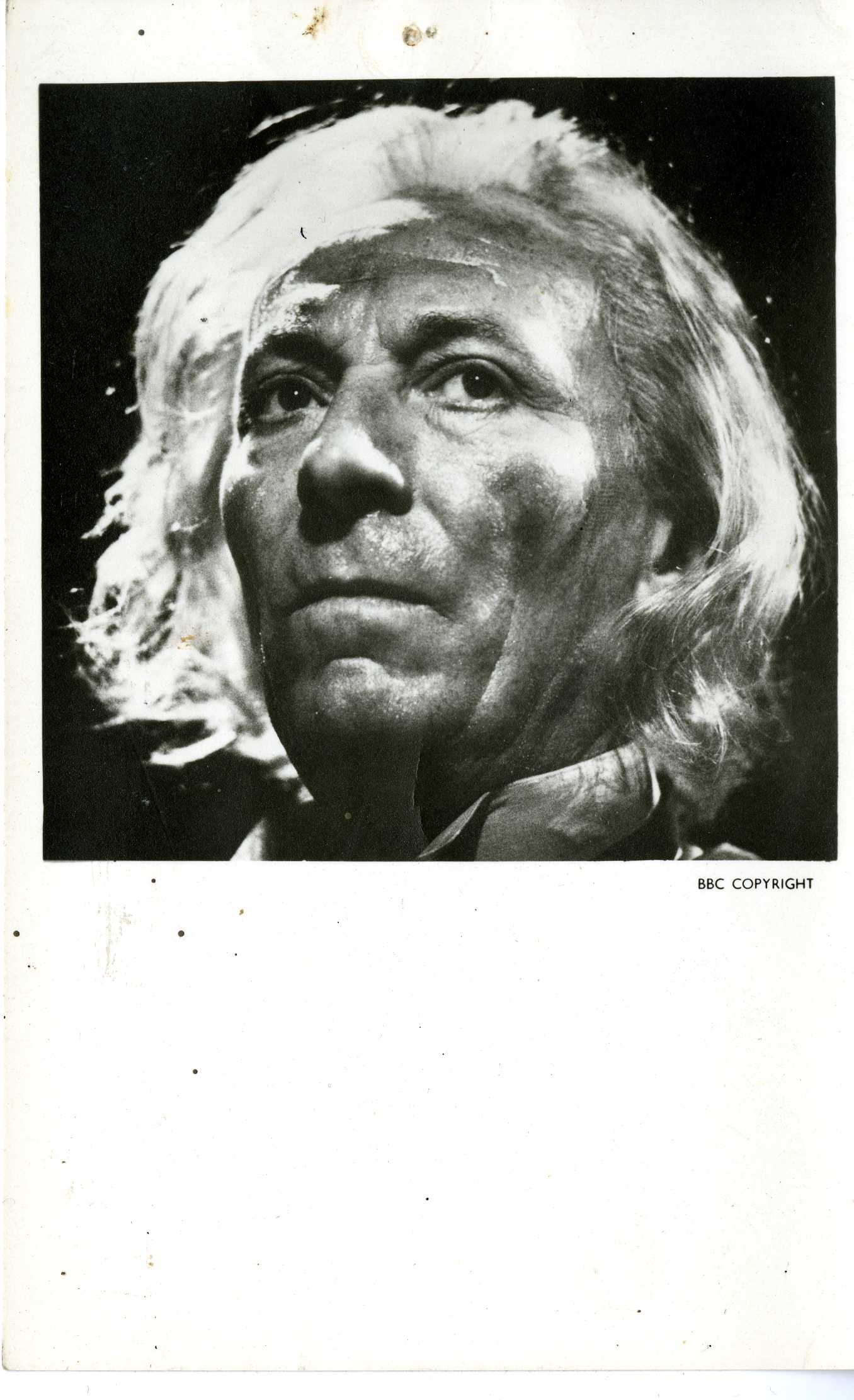 Early BBC Promotional Photo Card of William Hartnell
