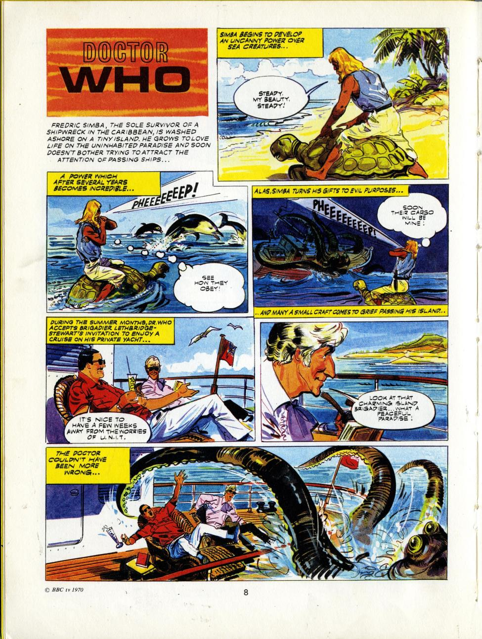Doctor Who strip from the TV Comic Annual 1971 (published 1970)